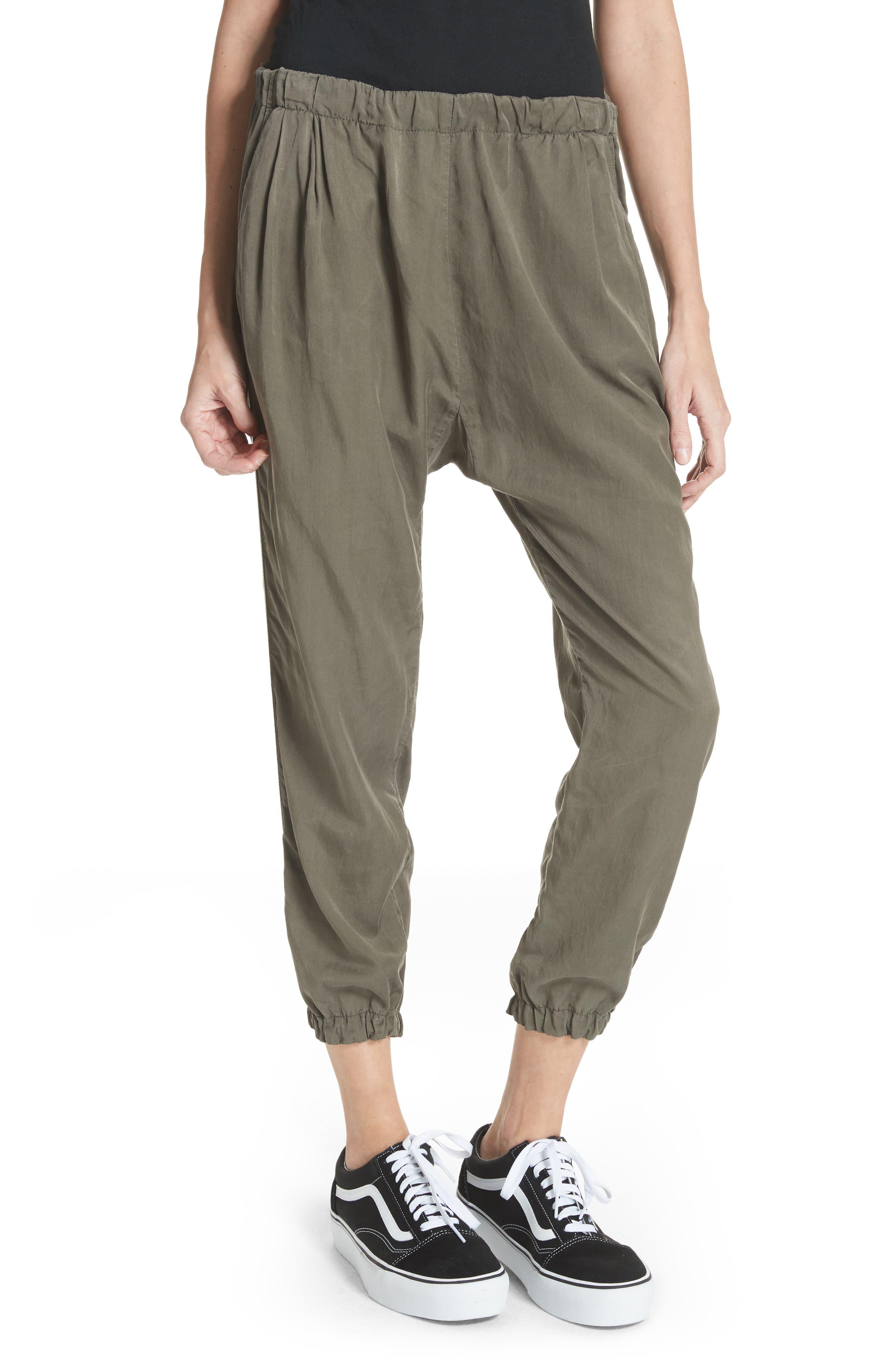 Silk Blend Track Pants,                             Main thumbnail 1, color,                             346