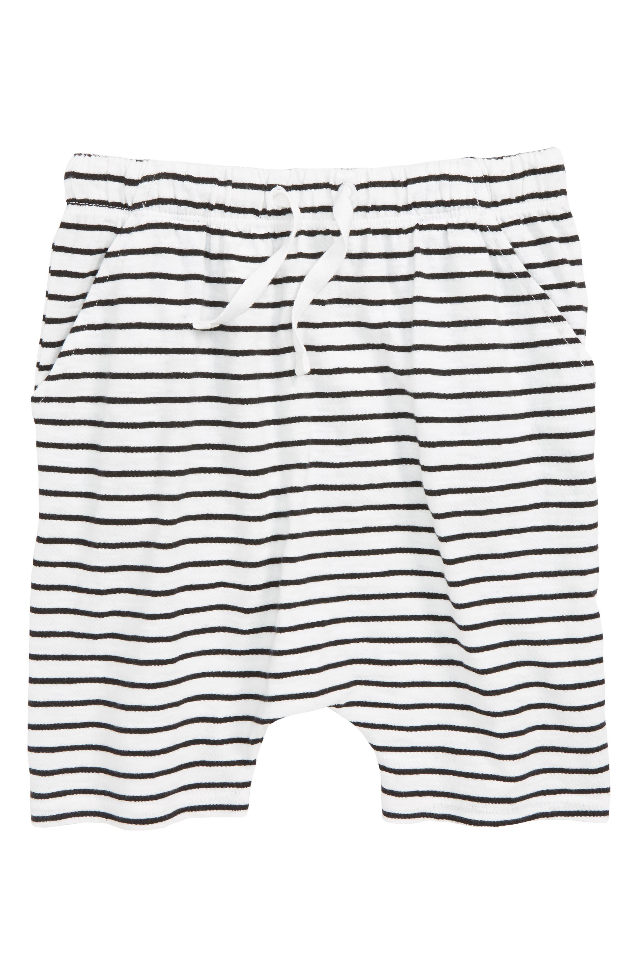 Stripe Knit Shorts,                             Main thumbnail 1, color,                             100