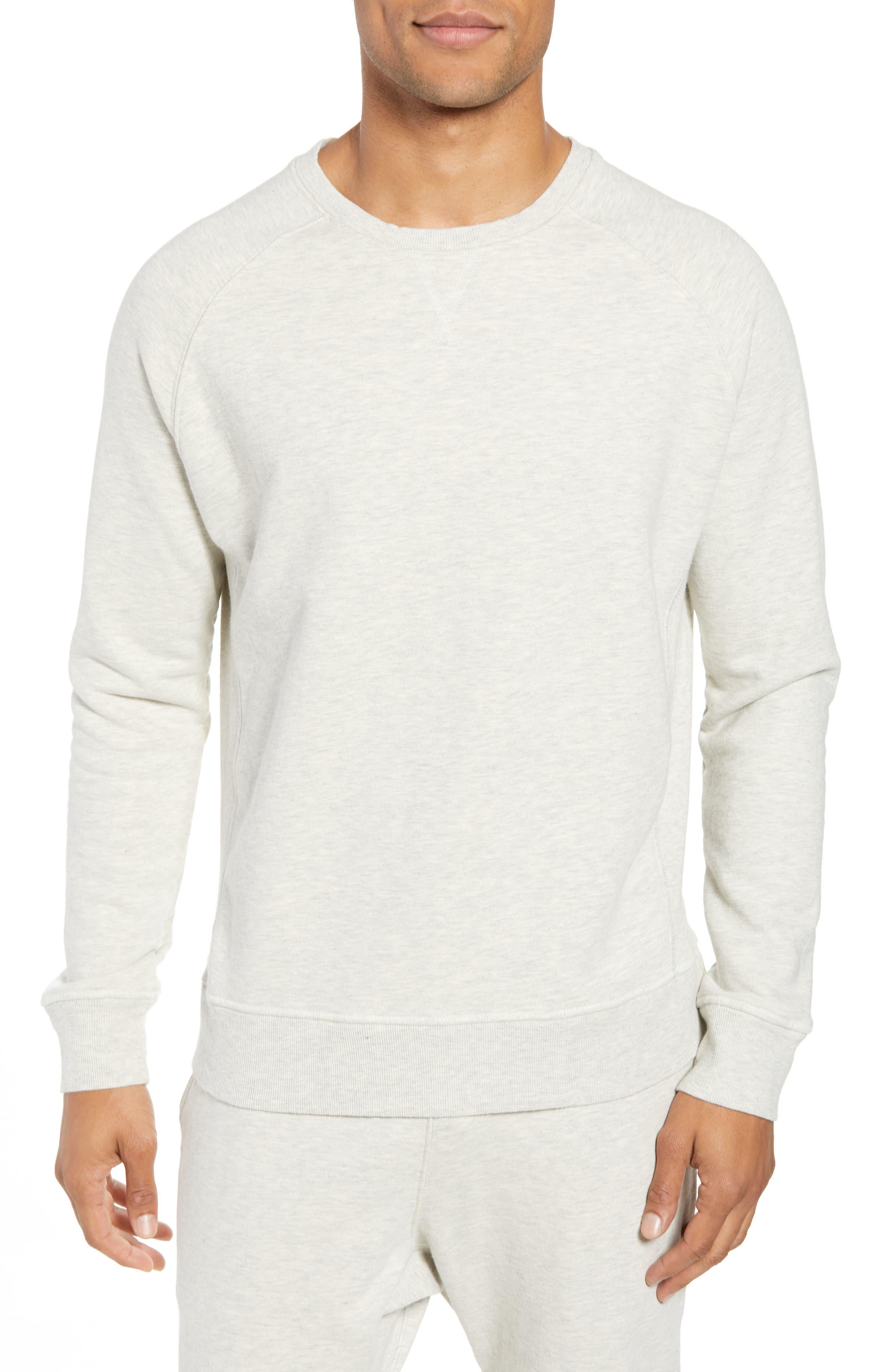 RICHER POORER Crewneck Cotton Sweatshirt in Oatmeal