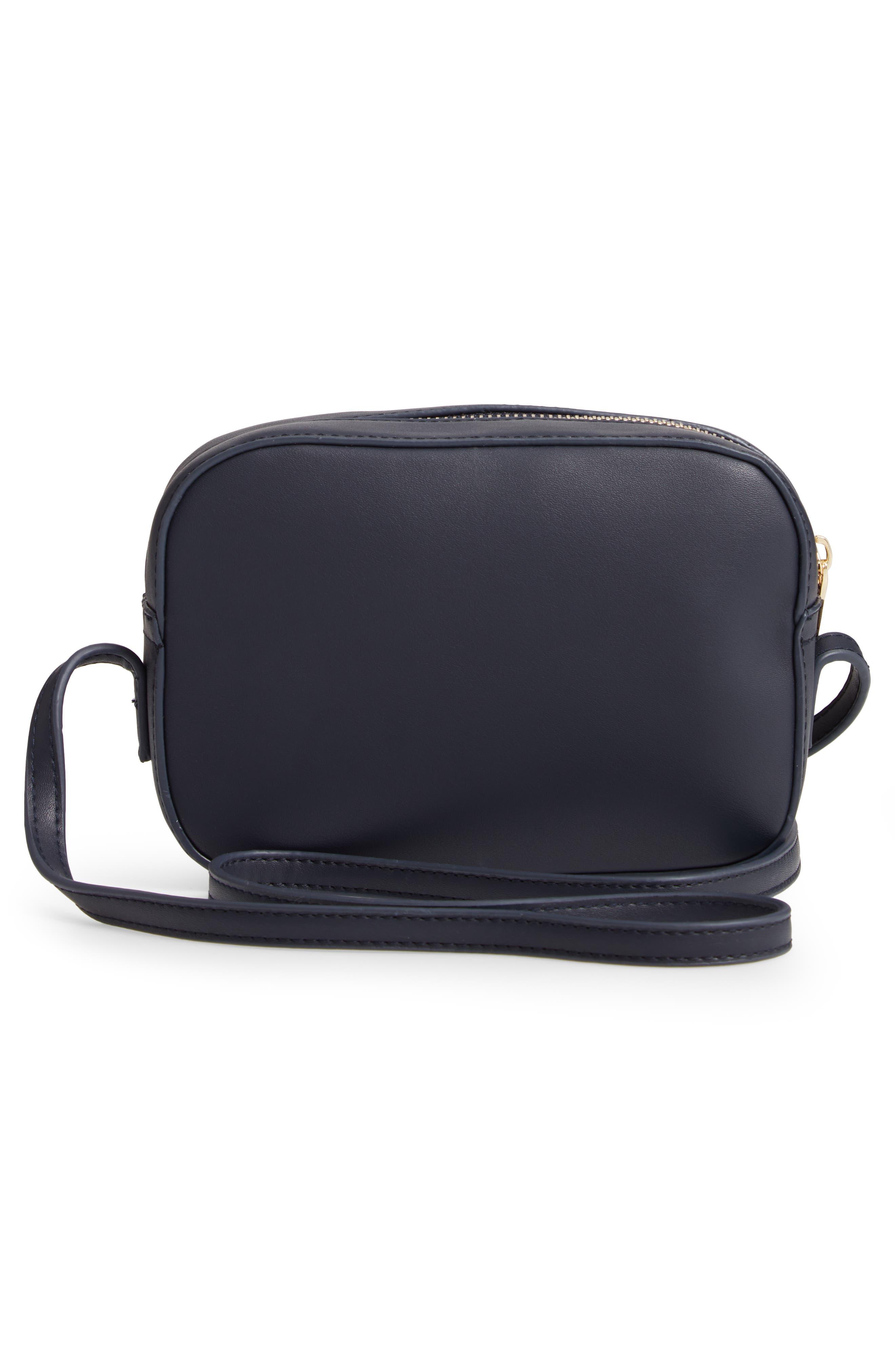 Faux Leather Box Bag,                             Alternate thumbnail 3, color,                             410