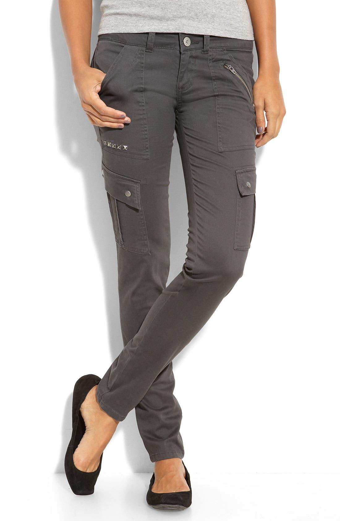 Skinny Cargo Pants,                             Main thumbnail 1, color,                             056