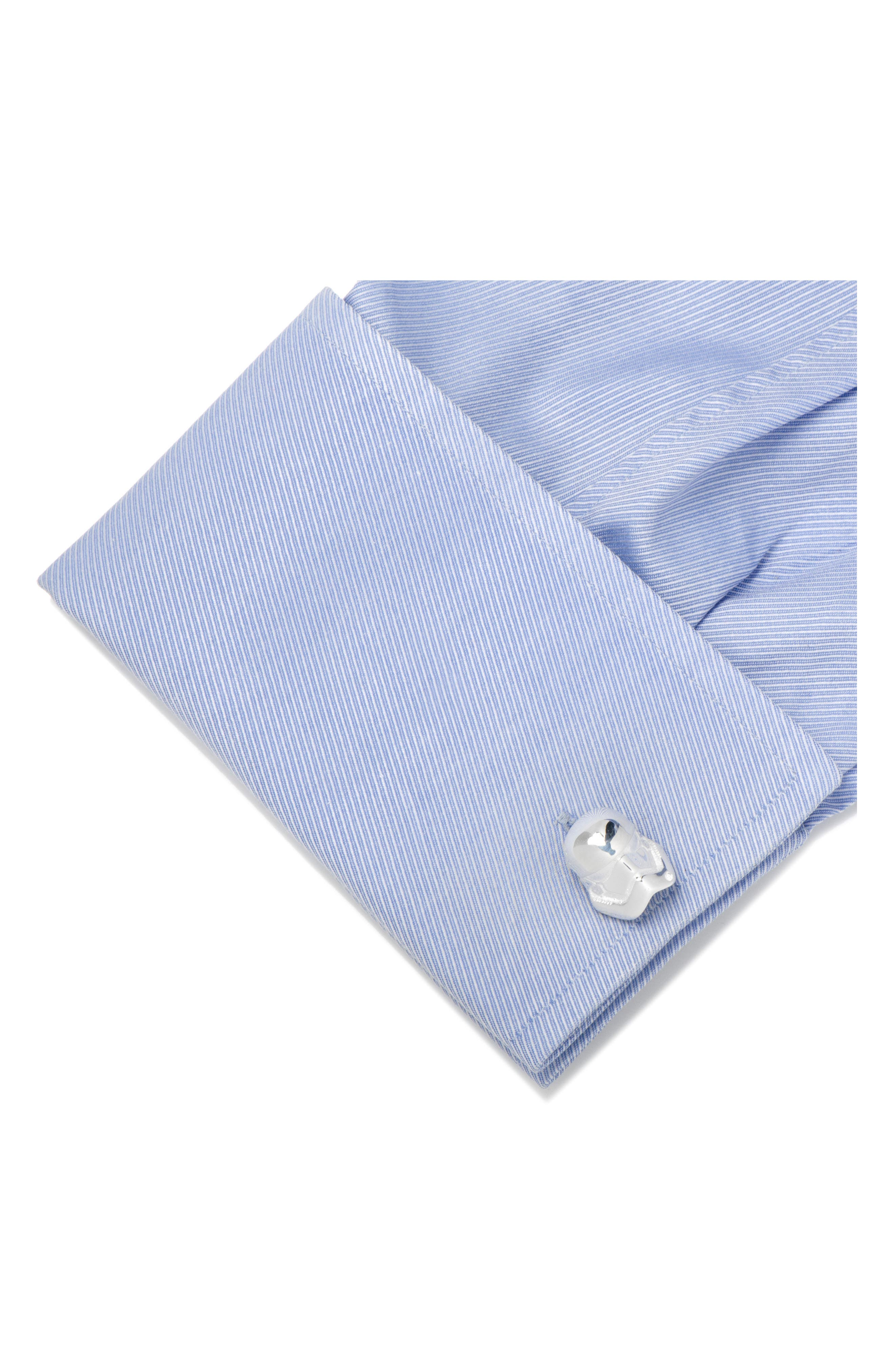 Star Wars<sup>™</sup> Stormtrooper Cuff Links,                             Alternate thumbnail 2, color,                             040