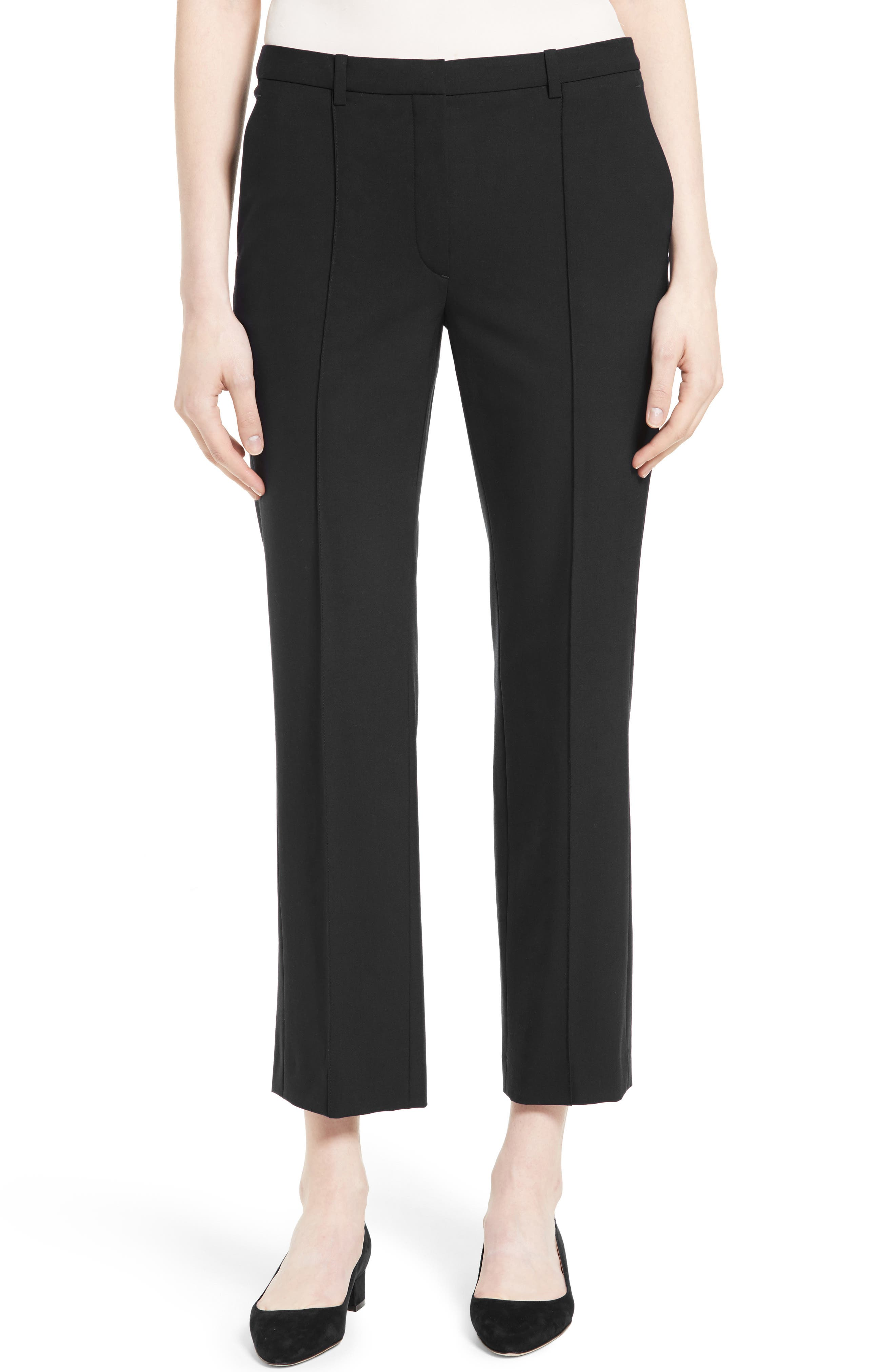 Hartsdale Good Wool Crop Pants,                             Main thumbnail 1, color,                             001
