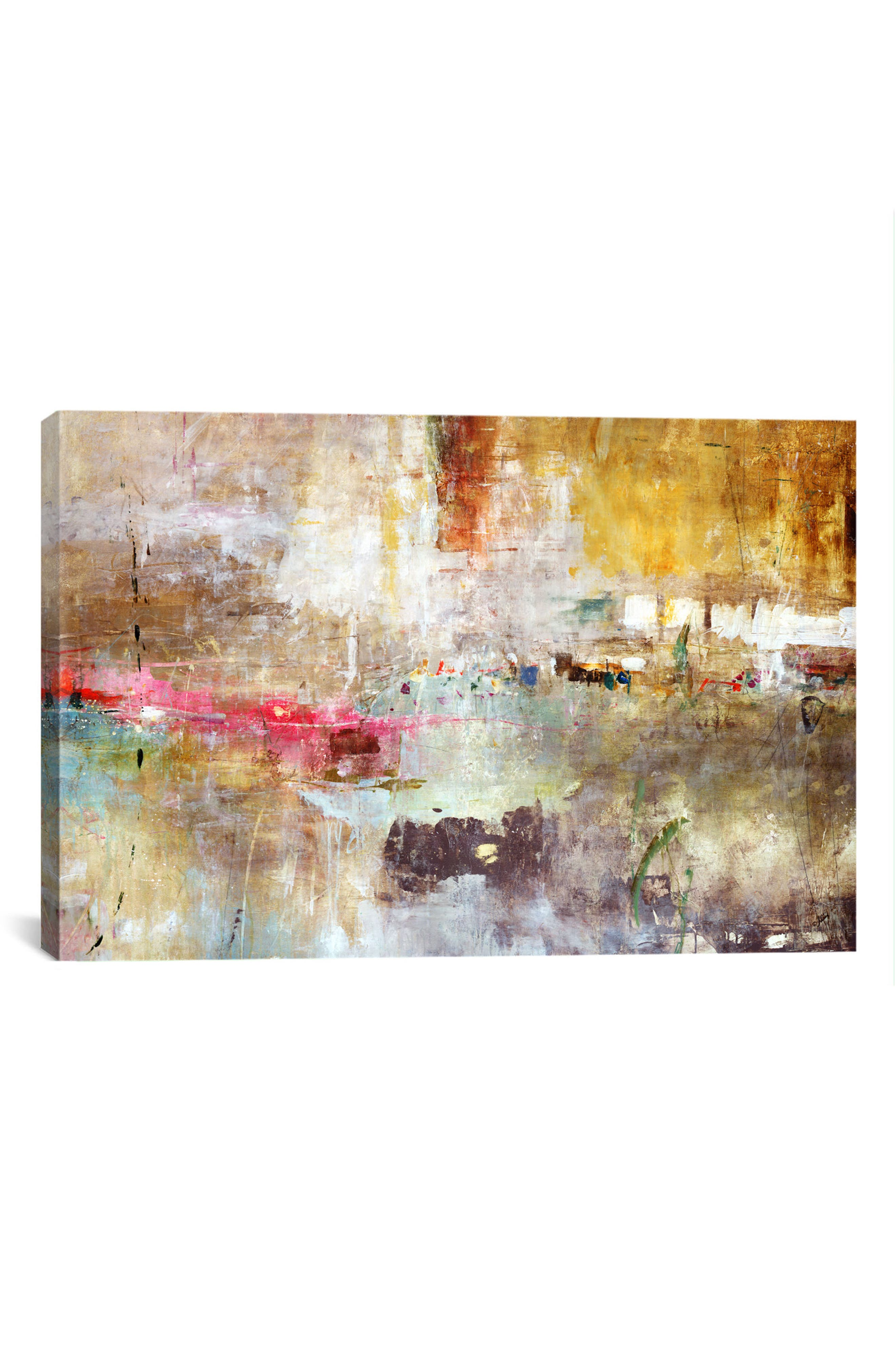 'Rain Clouds - Julian Spencer' Giclée Print Canvas Art,                             Main thumbnail 1, color,                             BEIGE