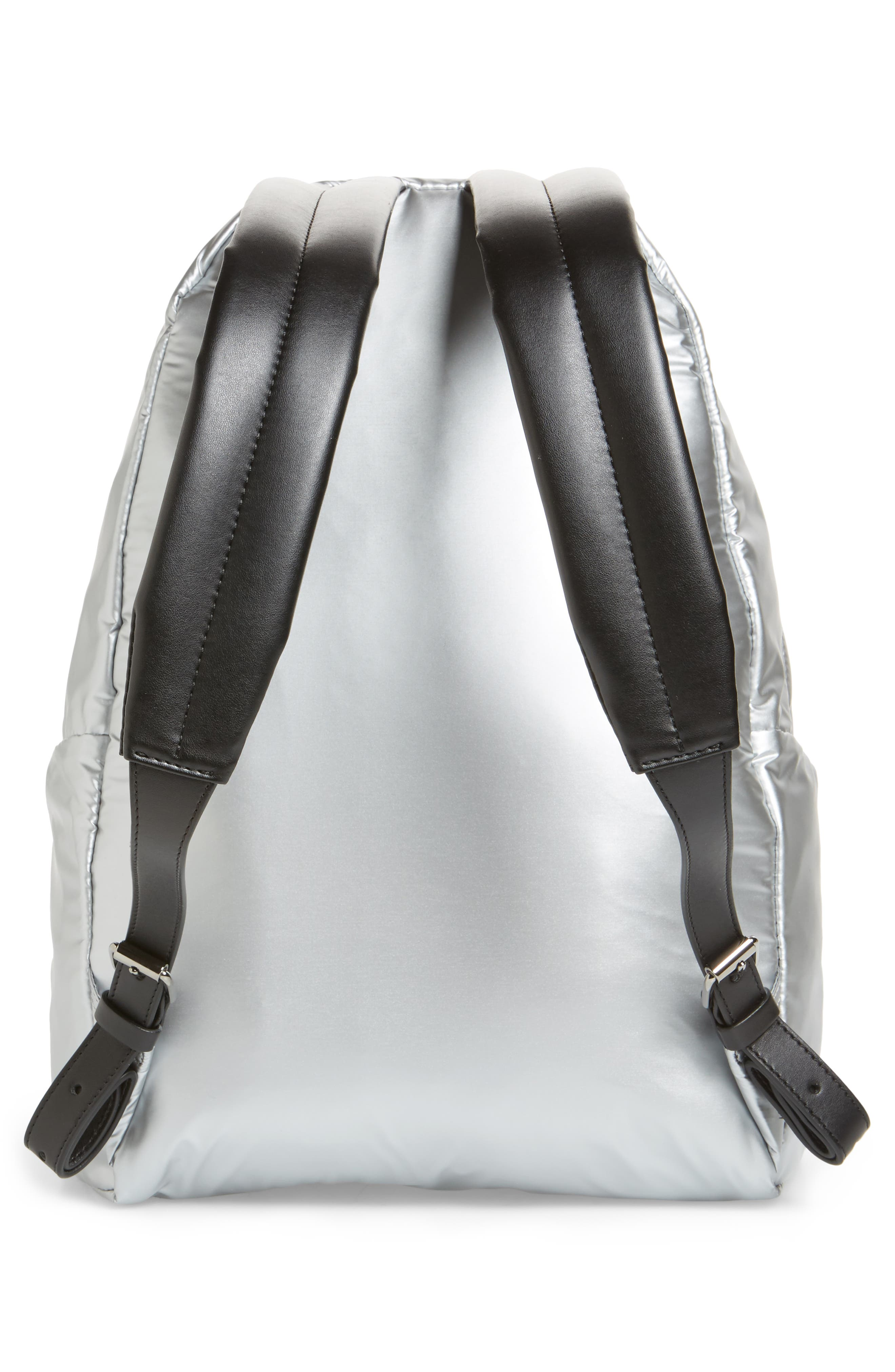 Falabella Metallic Nylon Backpack,                             Alternate thumbnail 3, color,                             045