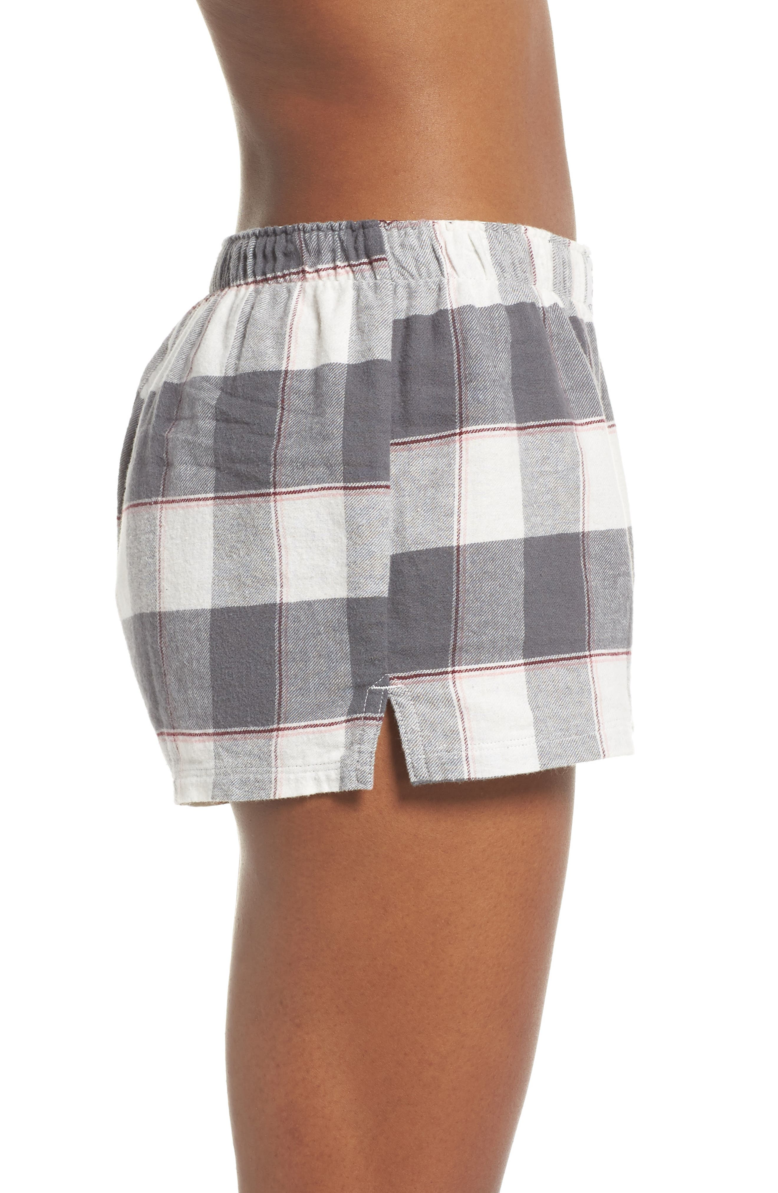 PJ SALVAGE,                             Cozy Time Shorts,                             Alternate thumbnail 3, color,                             028