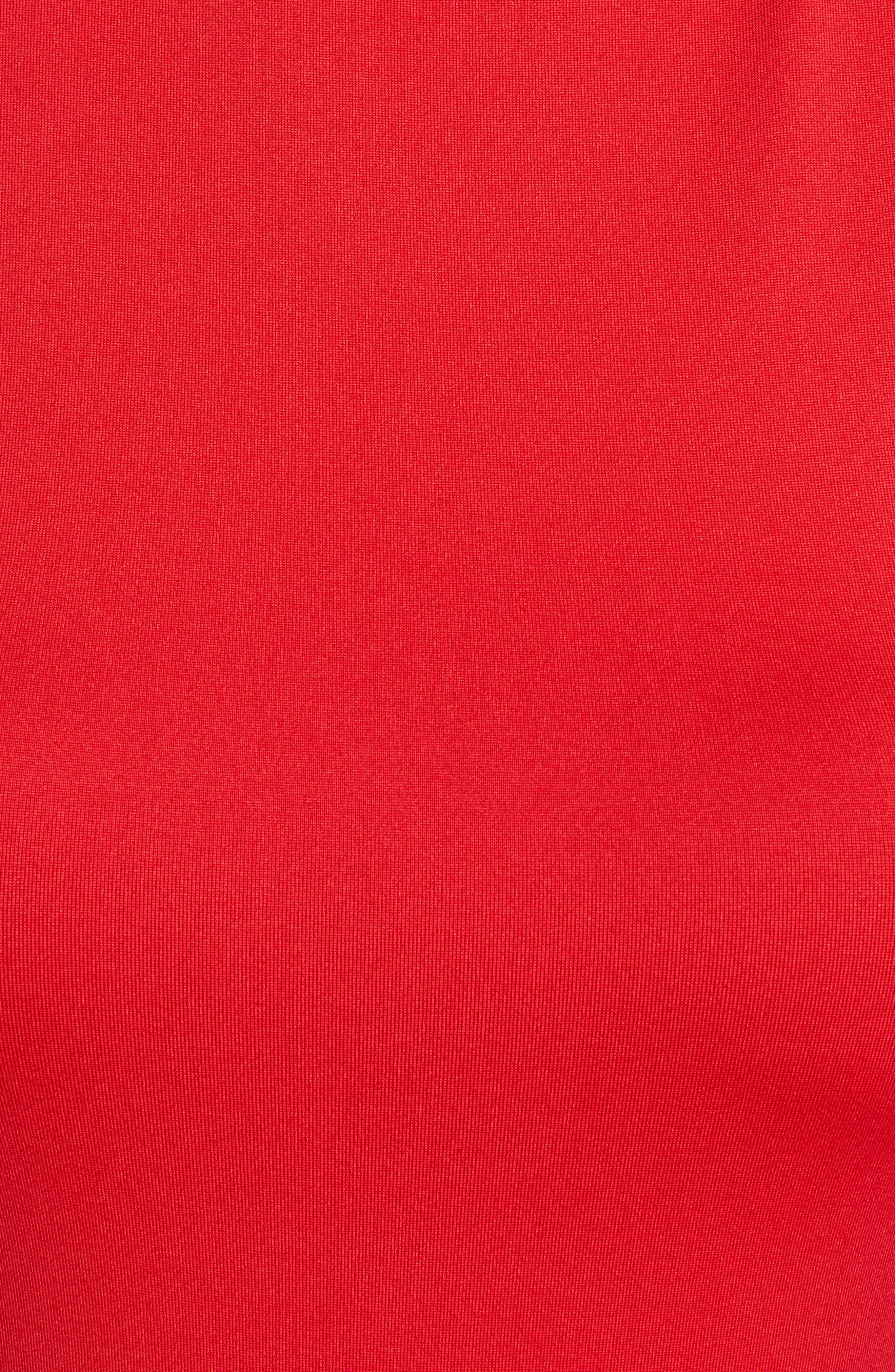 HALOGEN<SUP>®</SUP>,                             Mock Neck Shell Top,                             Alternate thumbnail 6, color,                             RED CHINOISE