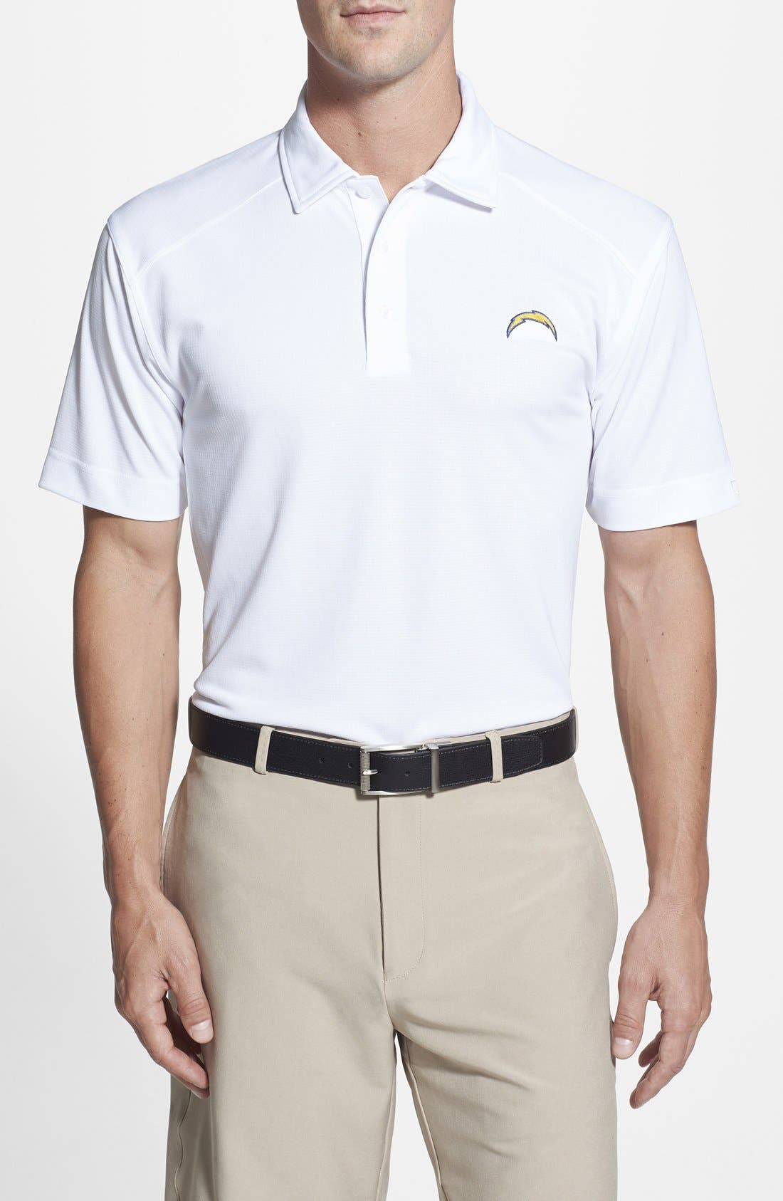 San Diego Chargers - Genre DryTec Moisture Wicking Polo,                             Main thumbnail 1, color,                             100
