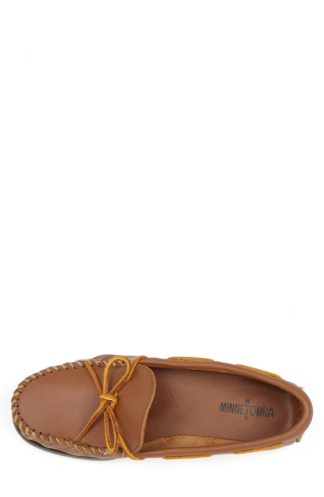 Leather Camp Moccasin,                             Alternate thumbnail 3, color,                             MAPLE