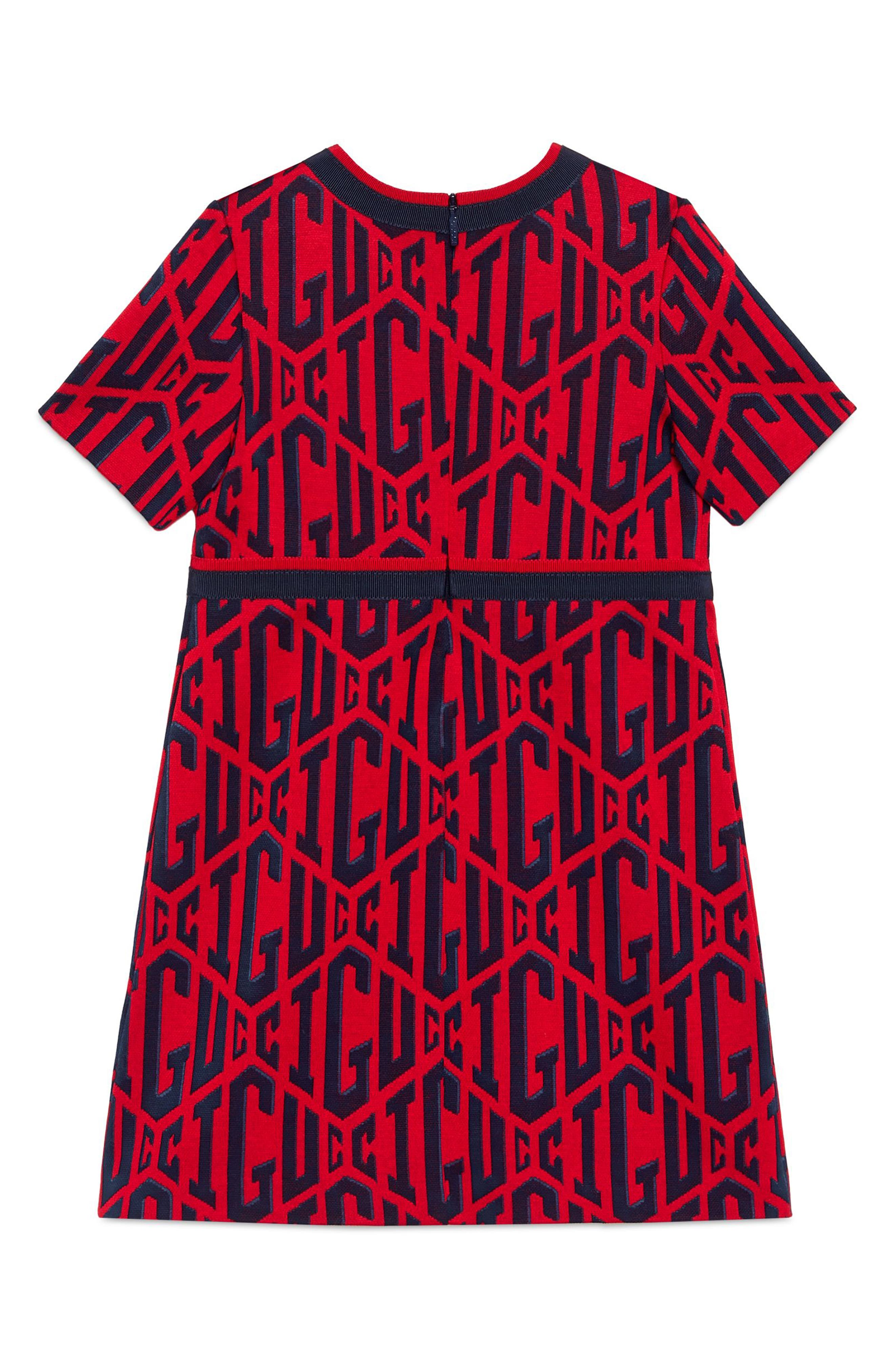Game Cotton Dress,                             Alternate thumbnail 2, color,                             FLARE/ INK