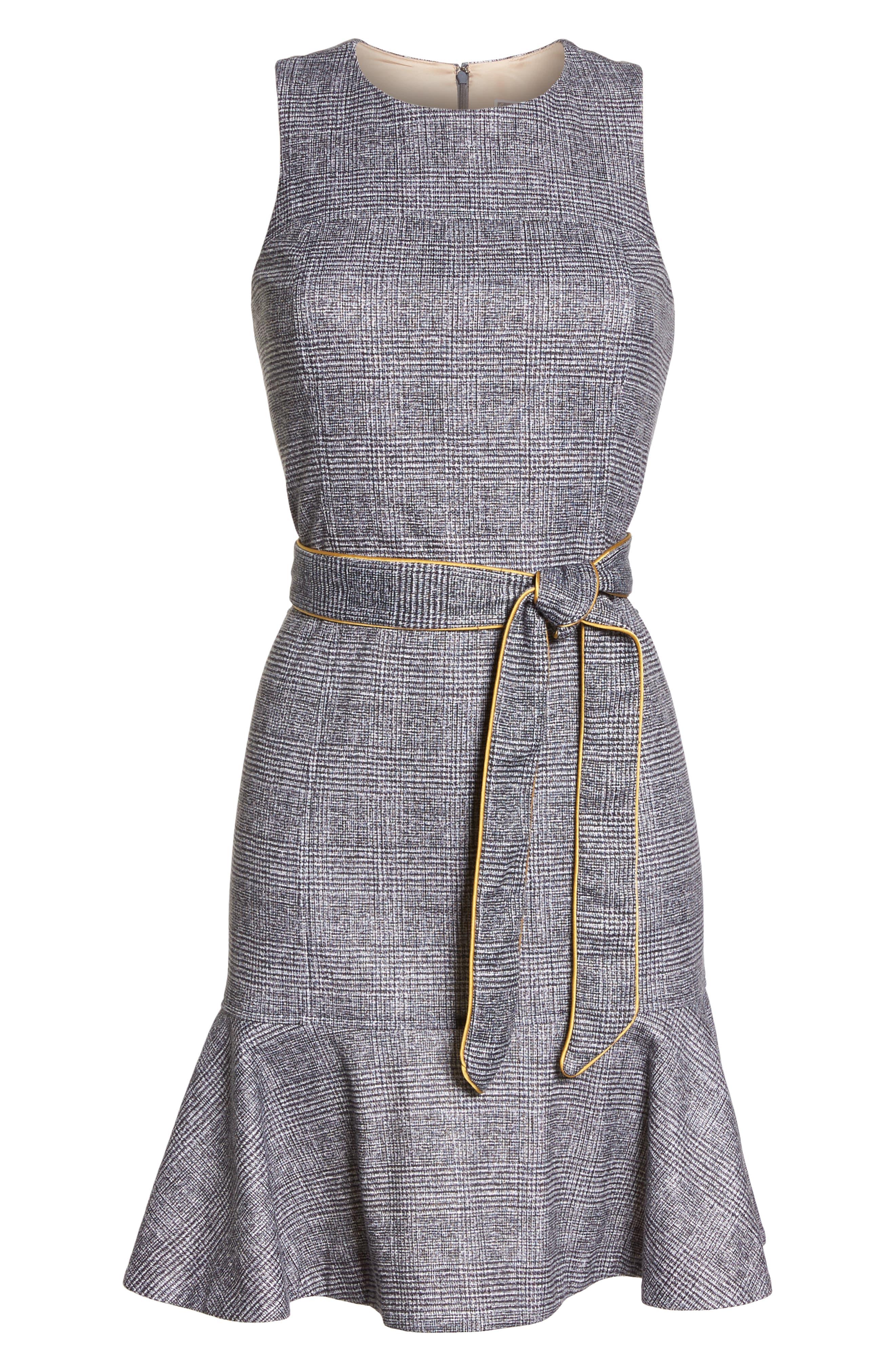 CHELSEA28,                             Sleeveless Plaid Dress,                             Alternate thumbnail 7, color,                             001
