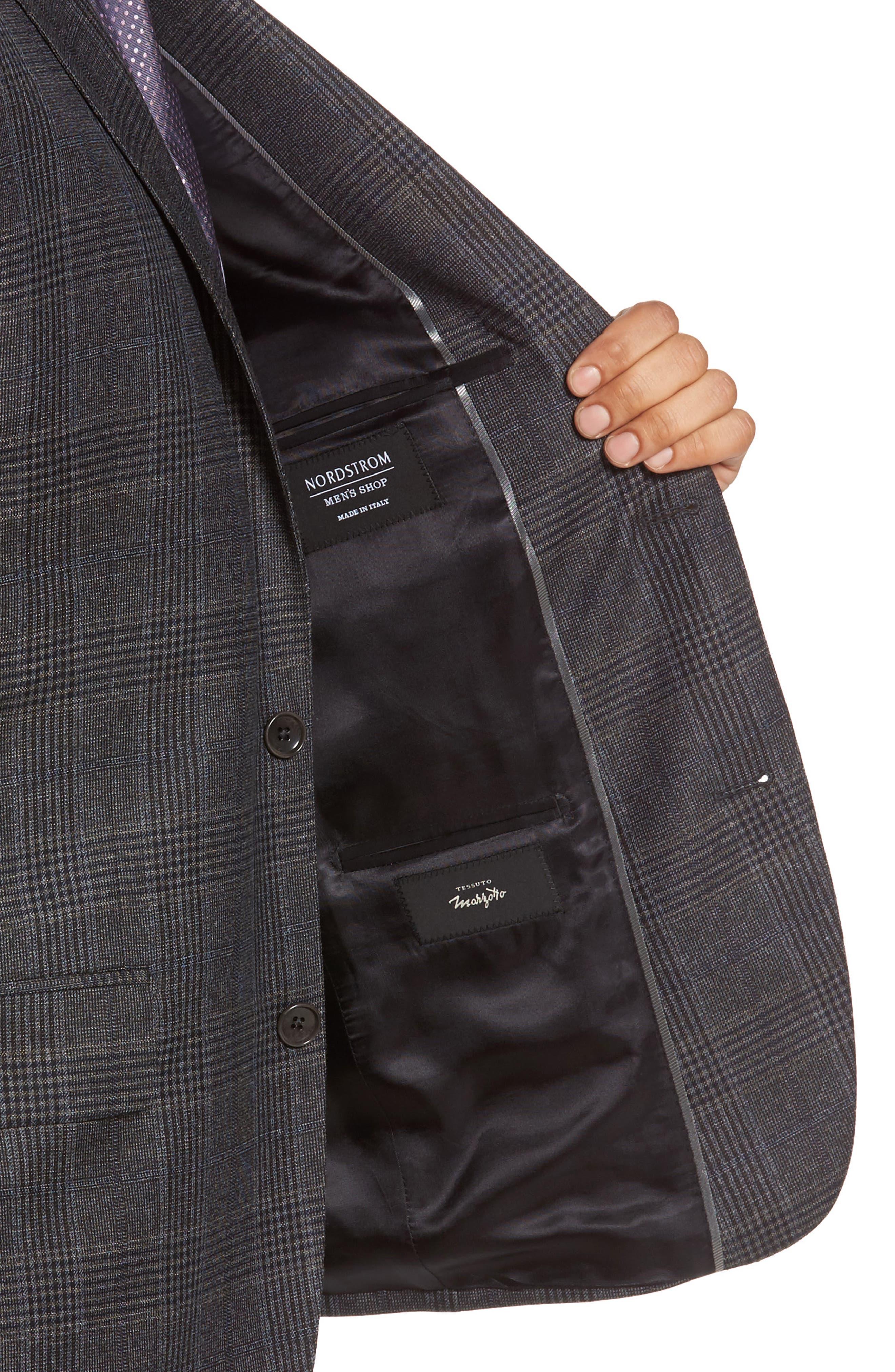 Classic Fit Plaid Wool Sport Coat,                             Alternate thumbnail 4, color,                             099