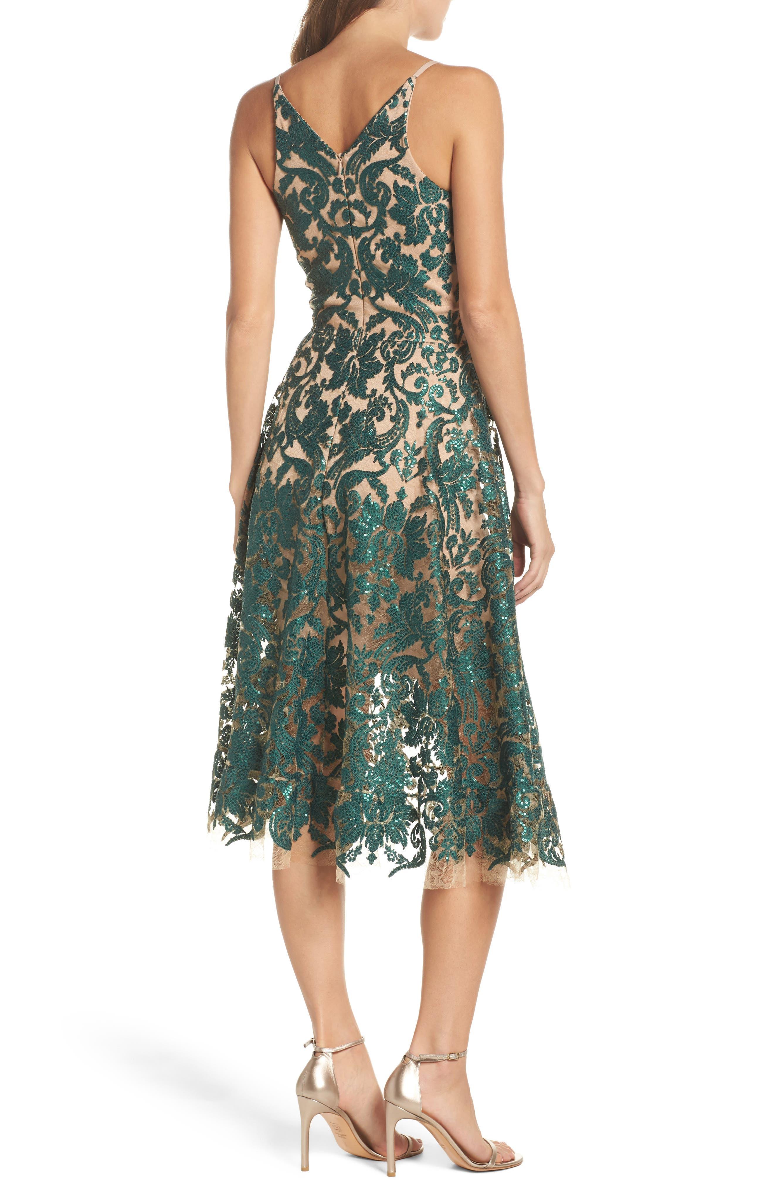 Blair Embellished Fit & Flare Dress,                             Alternate thumbnail 11, color,