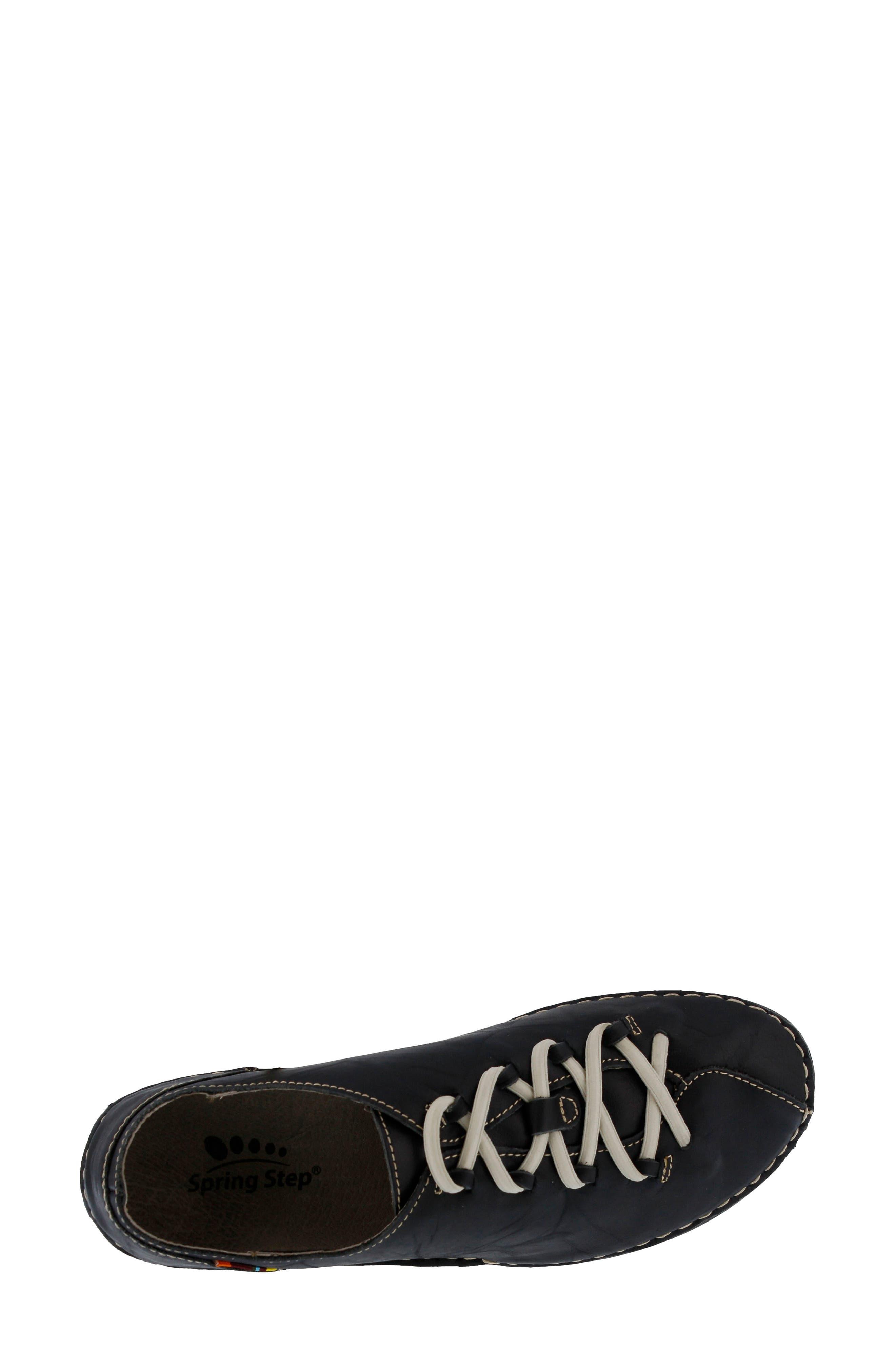 Carhop Sneaker,                             Alternate thumbnail 4, color,                             BLACK LEATHER