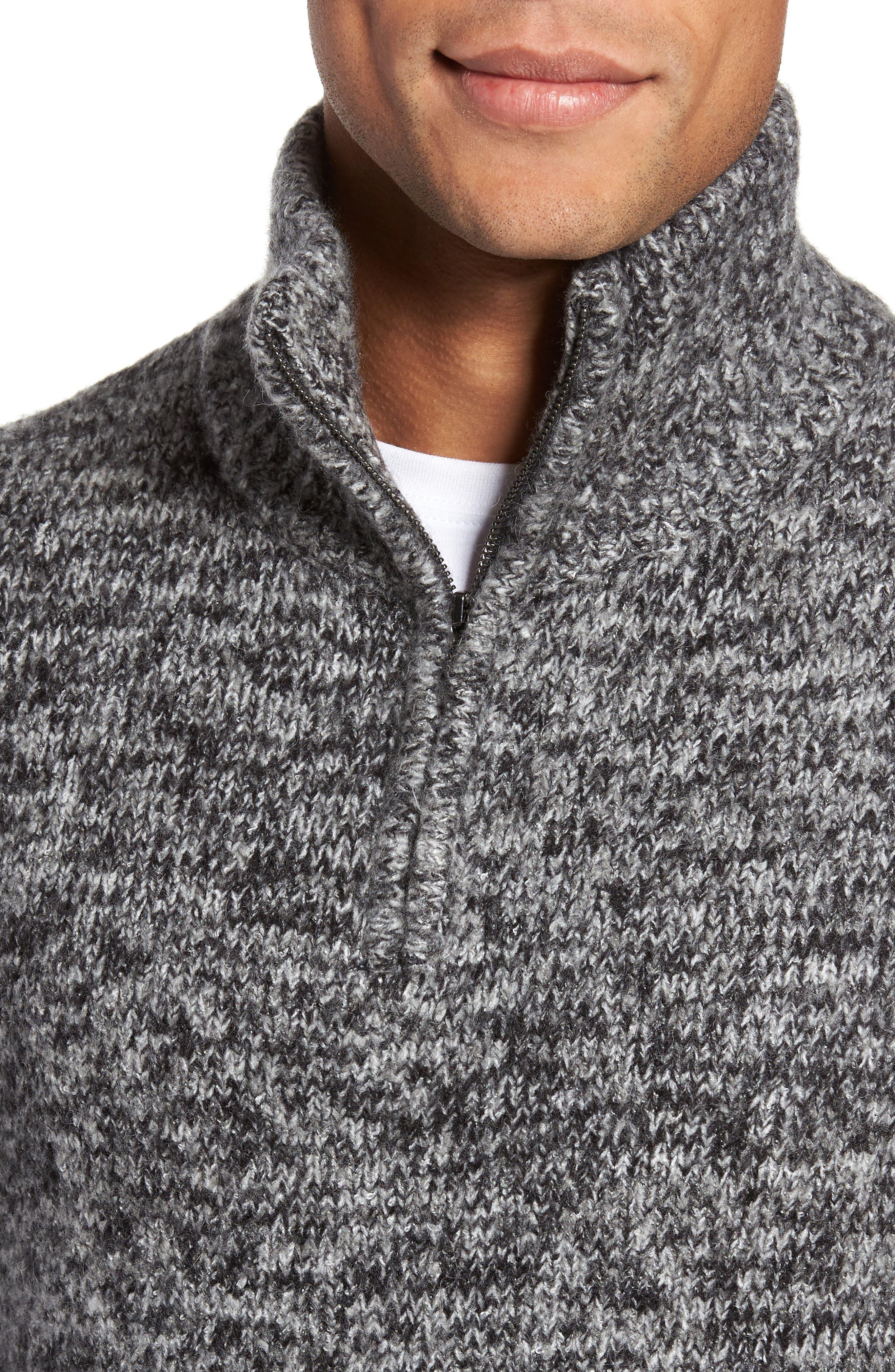 Quarter Zip Knit Pullover,                             Alternate thumbnail 4, color,                             012