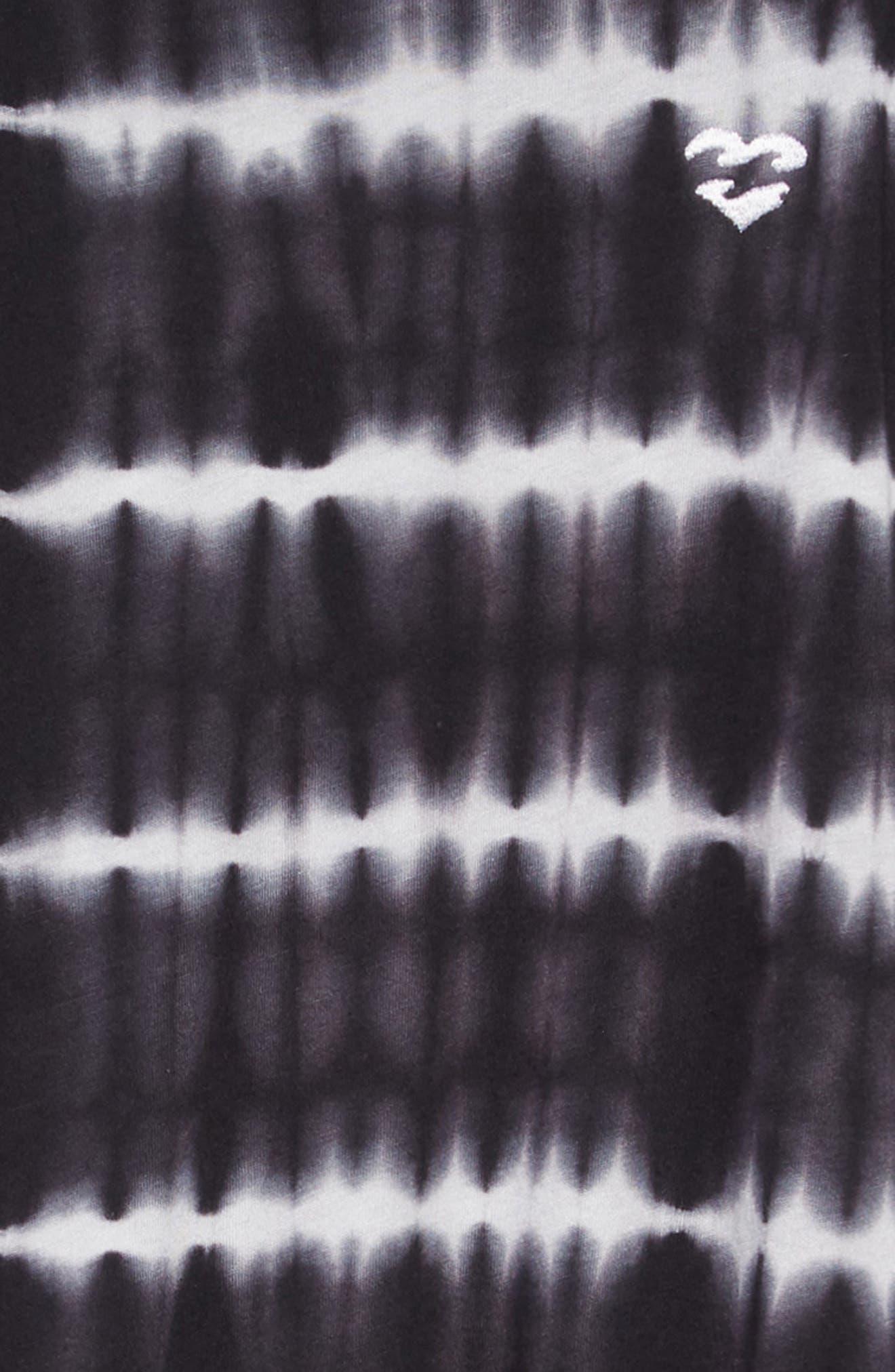 Chasing Waves Cold Shoulder Dress,                             Alternate thumbnail 3, color,                             BLACK