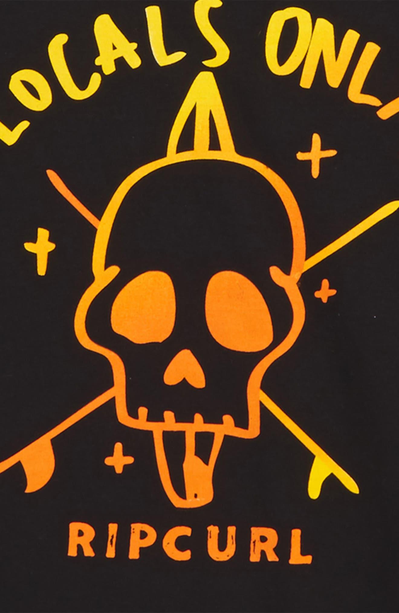 Locals Only Premium Graphic T-Shirt,                             Alternate thumbnail 2, color,                             001