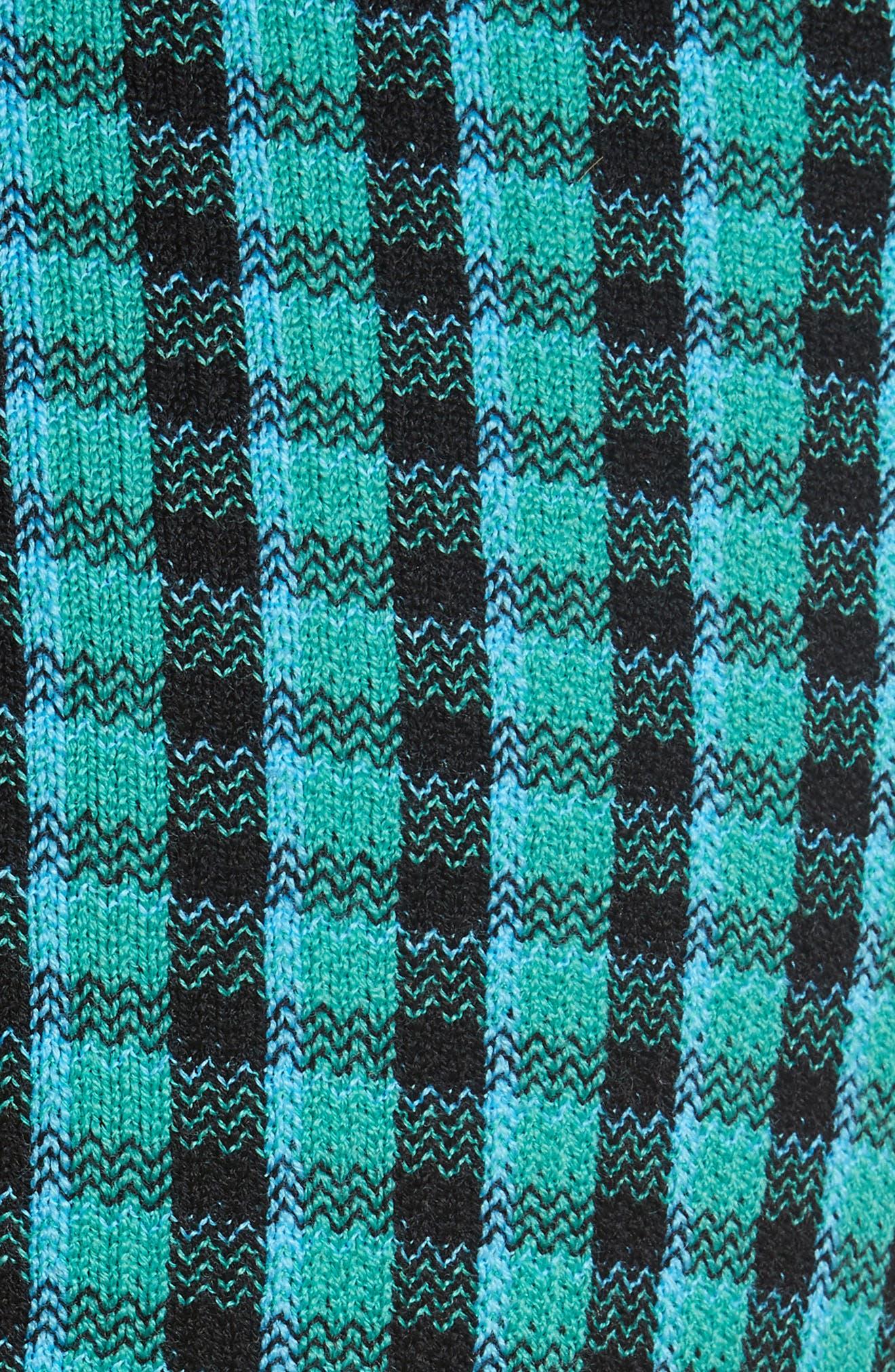 Plaid Stretch Wool Knit Pants,                             Alternate thumbnail 5, color,                             440