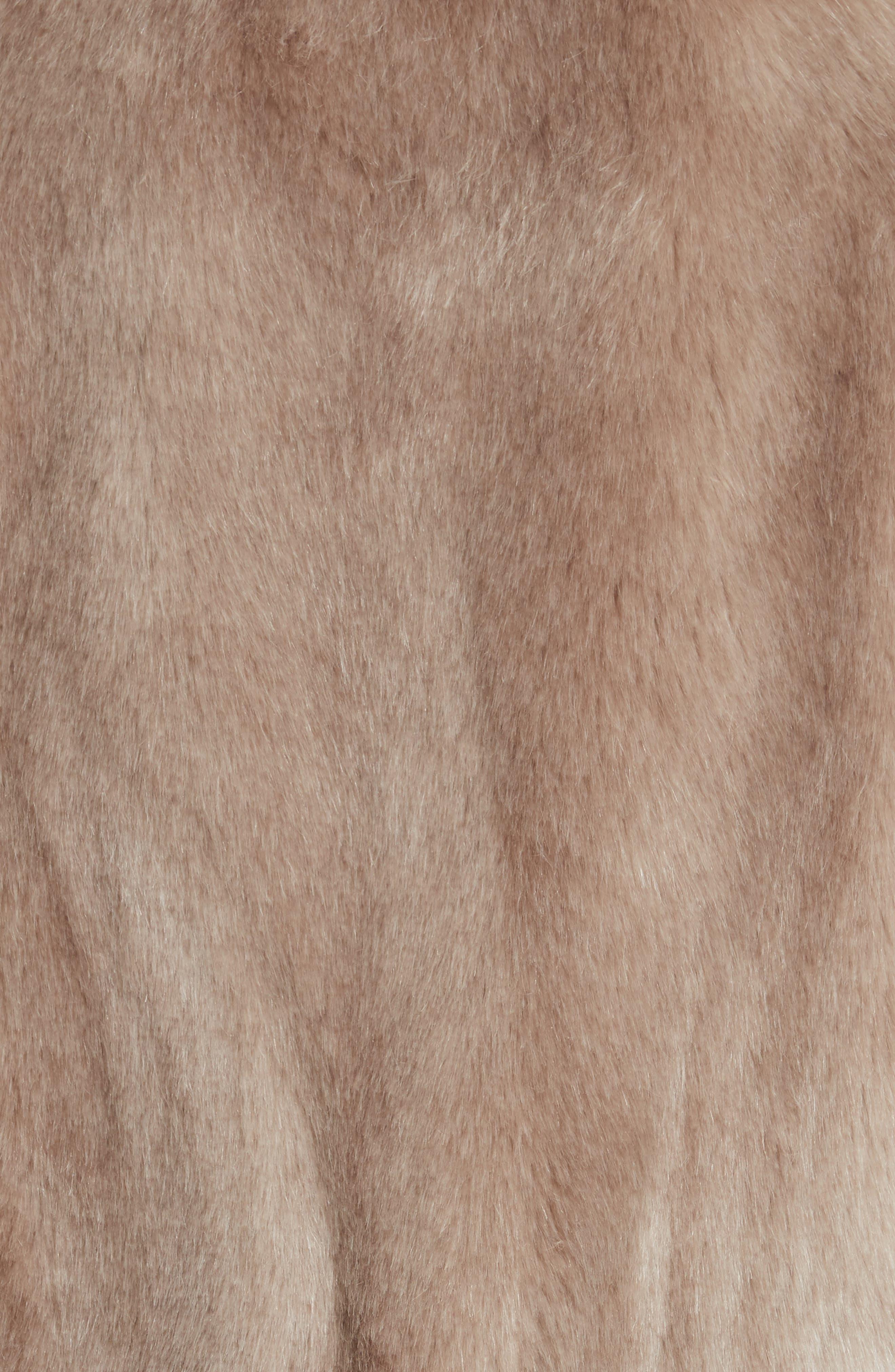 Faux Fur Jacket,                             Alternate thumbnail 6, color,                             088