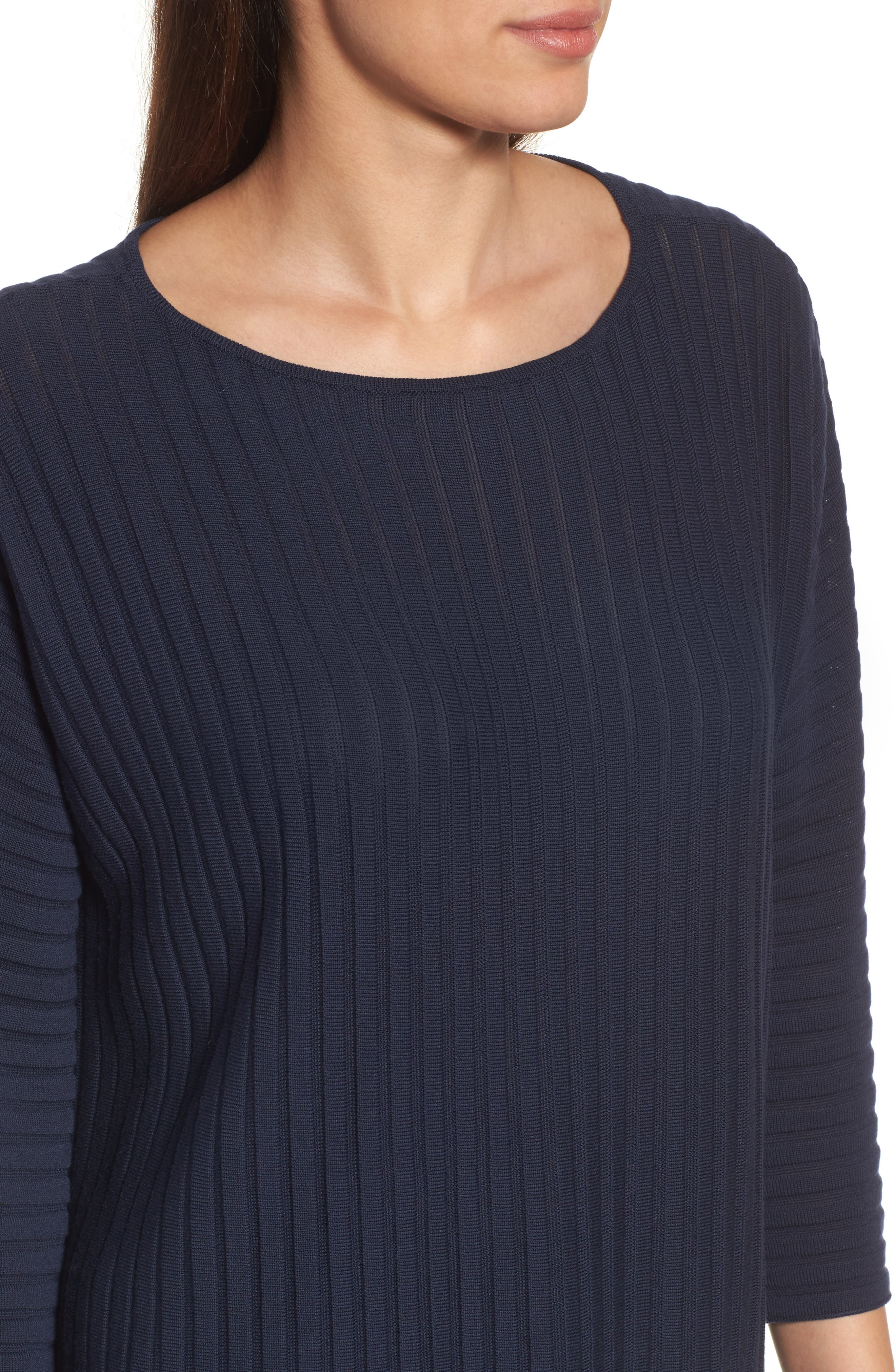 Ribbed Bateau Neck Sweater,                             Alternate thumbnail 16, color,