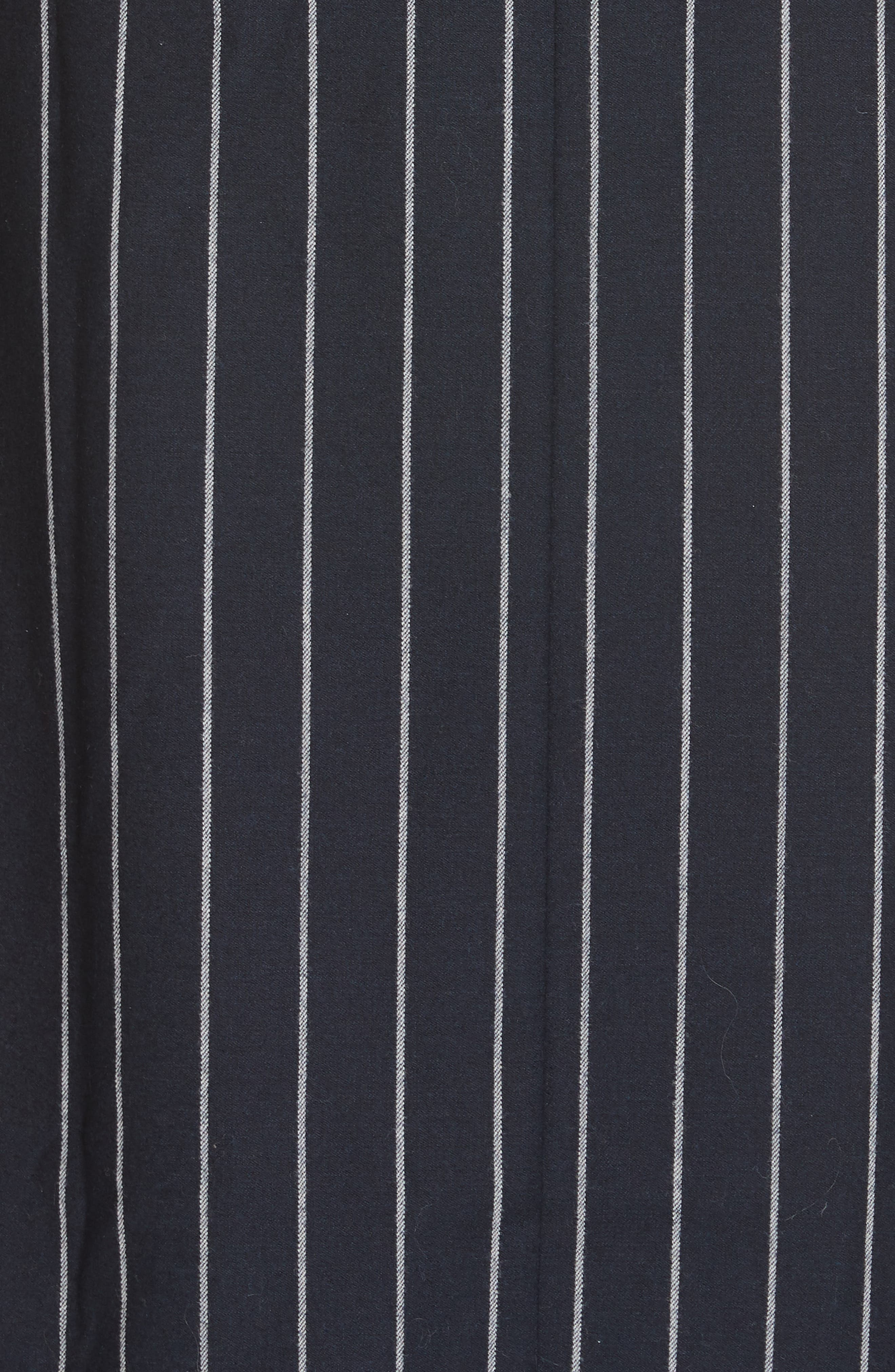 NORDSTROM SIGNATURE,                             Belted Shirtdress,                             Alternate thumbnail 6, color,                             NAVY- WHITE PREPPY STRIPE