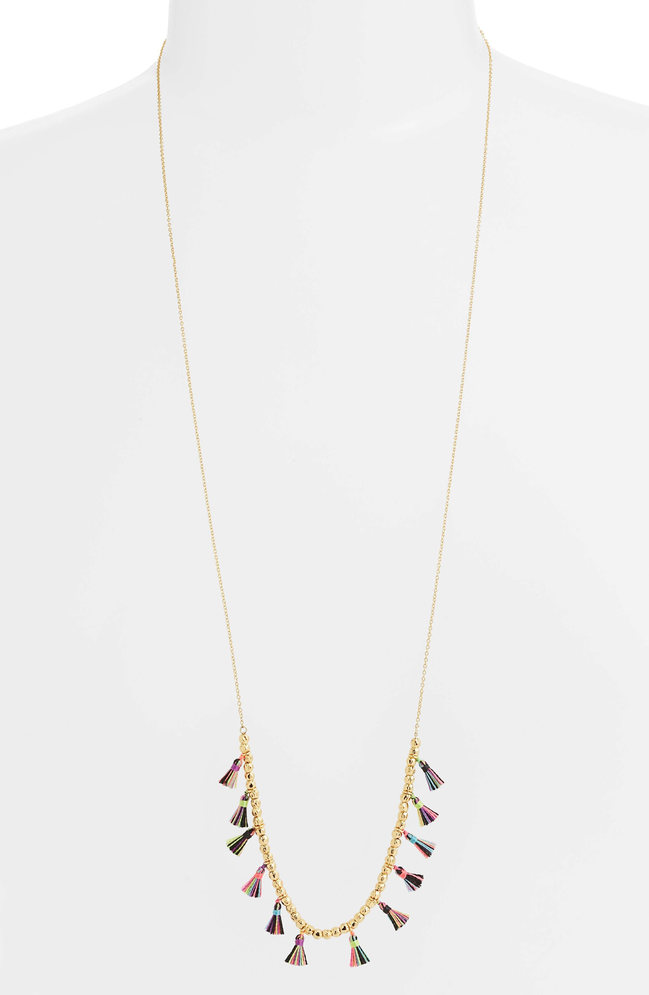 Havana Tassel Adjustable Necklace,                         Main,                         color, TROPIC