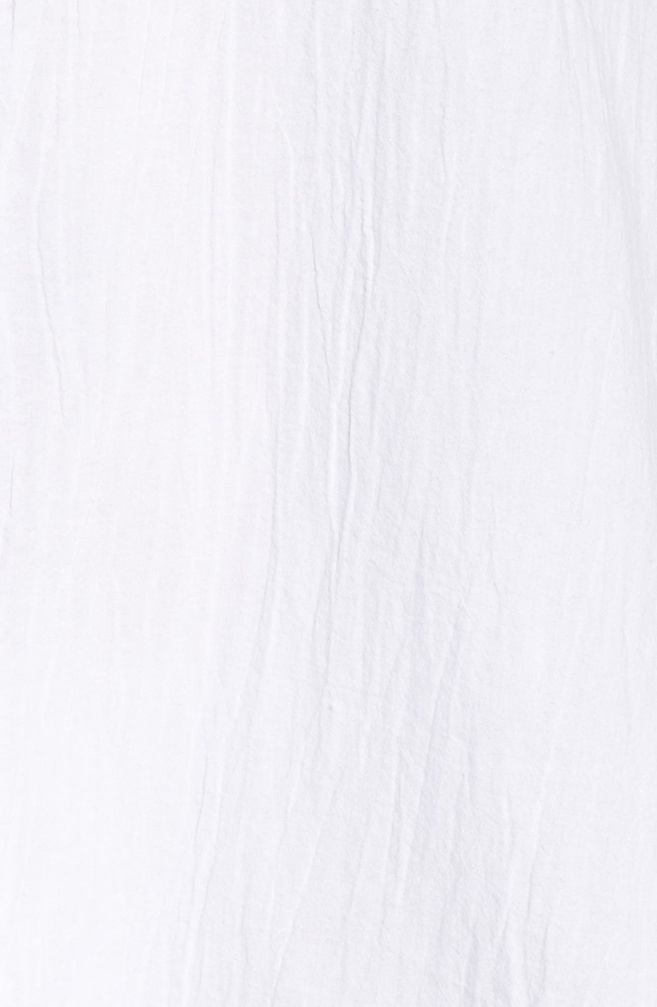 TOMMY BAHAMA,                             Boyfriend Shirt Cover-Up,                             Alternate thumbnail 6, color,                             WHITE