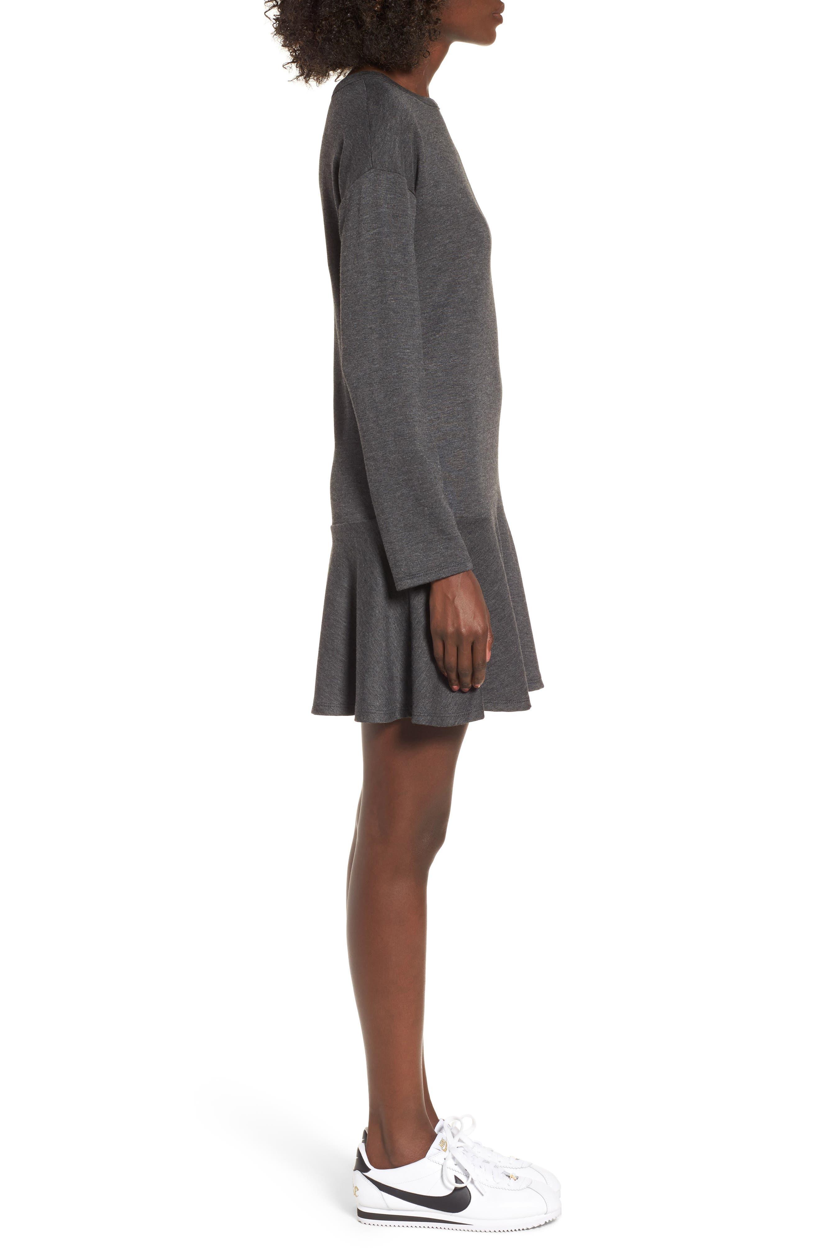 Drop Waist Sweatshirt Dress,                             Alternate thumbnail 3, color,                             020