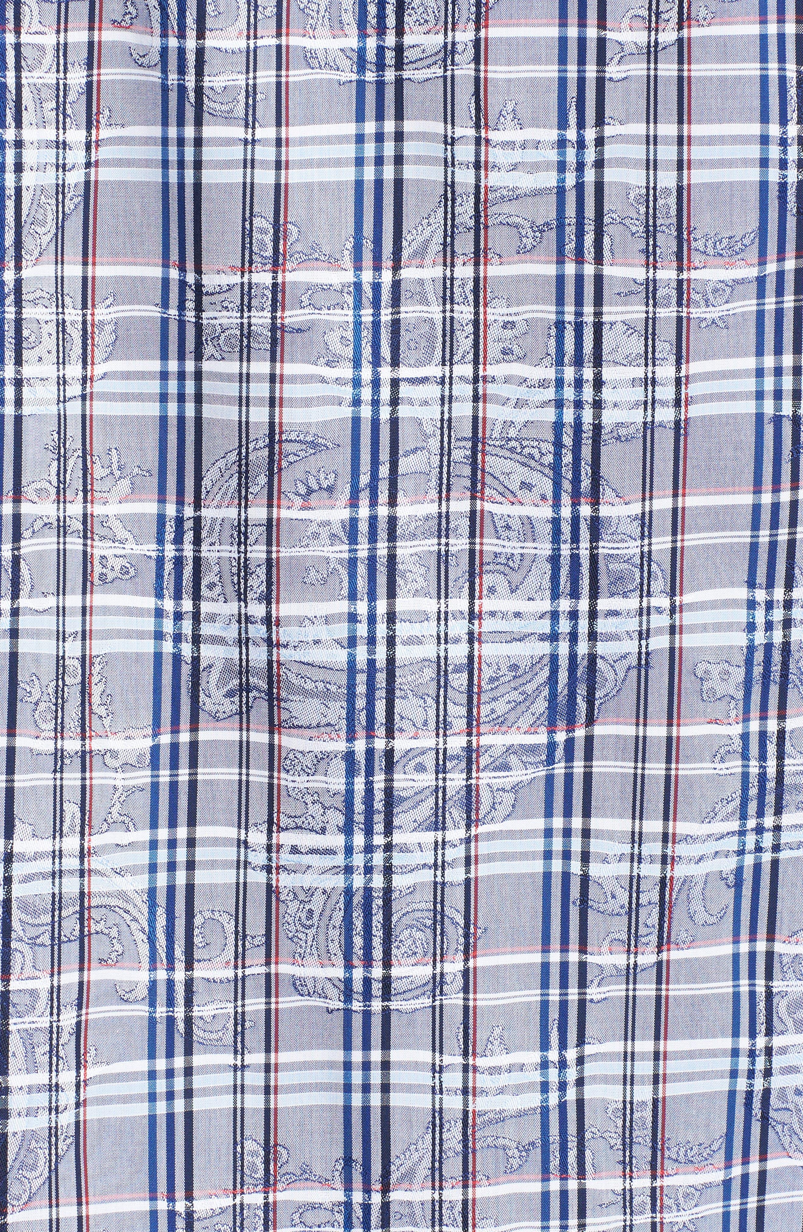 Classic Fit Check Paisley Sport Shirt,                             Alternate thumbnail 5, color,                             422