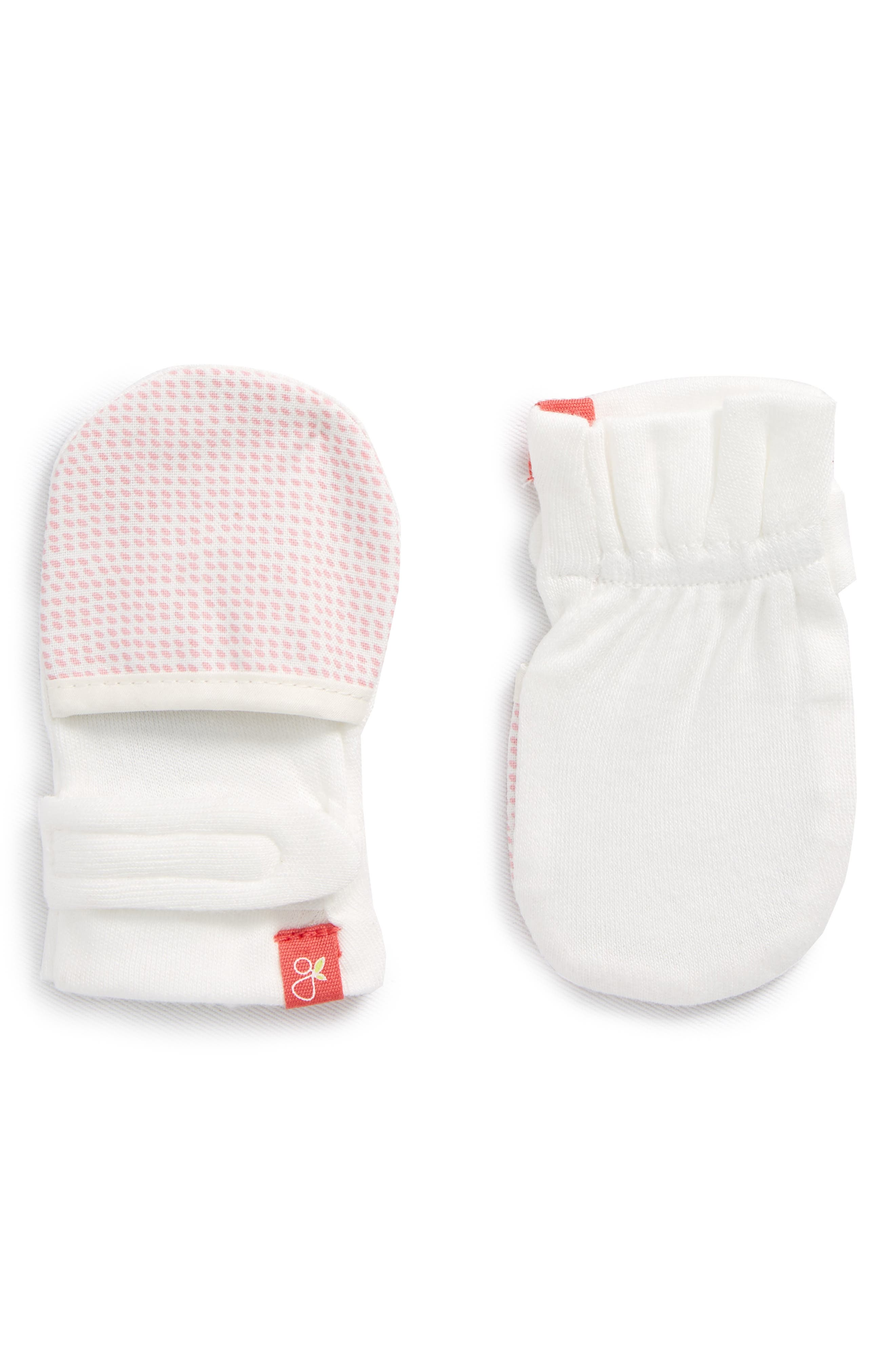 Infant Girls Goumikids Drops Mittens Size 03 M  Pink