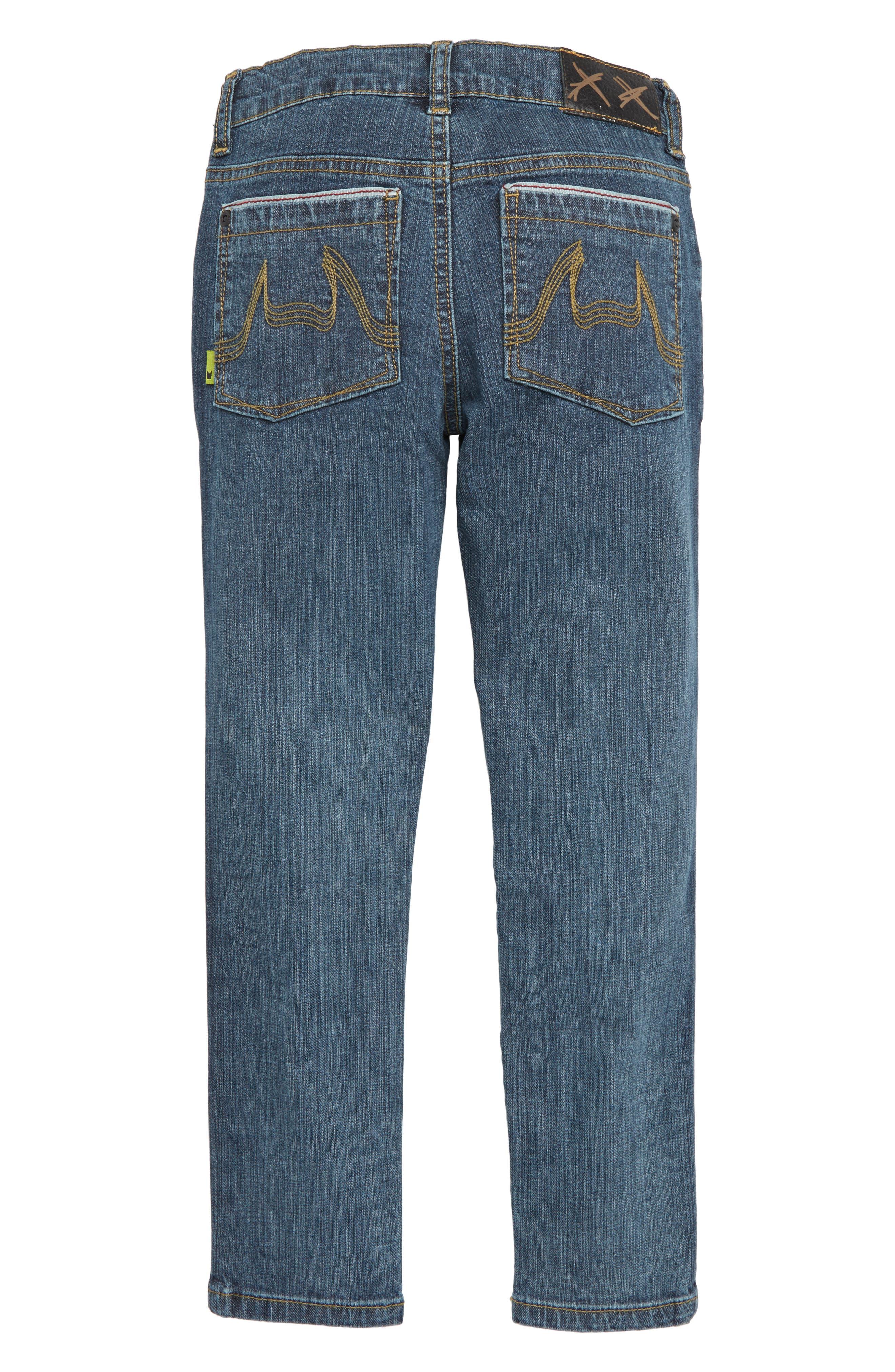 Slim Stovey Jeans,                             Alternate thumbnail 2, color,                             BEATEN INDIGO