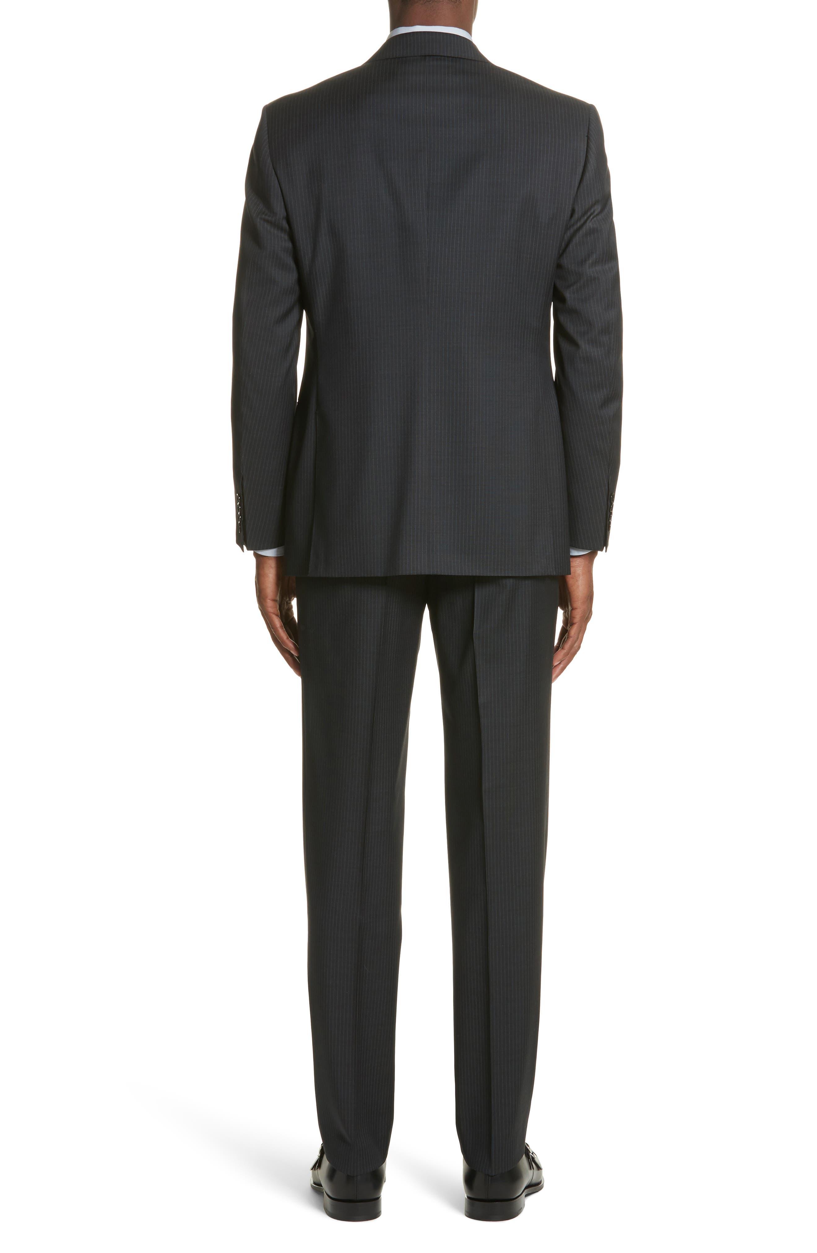 CANALI,                             Classic Fit Stripe Wool Suit,                             Alternate thumbnail 2, color,                             010