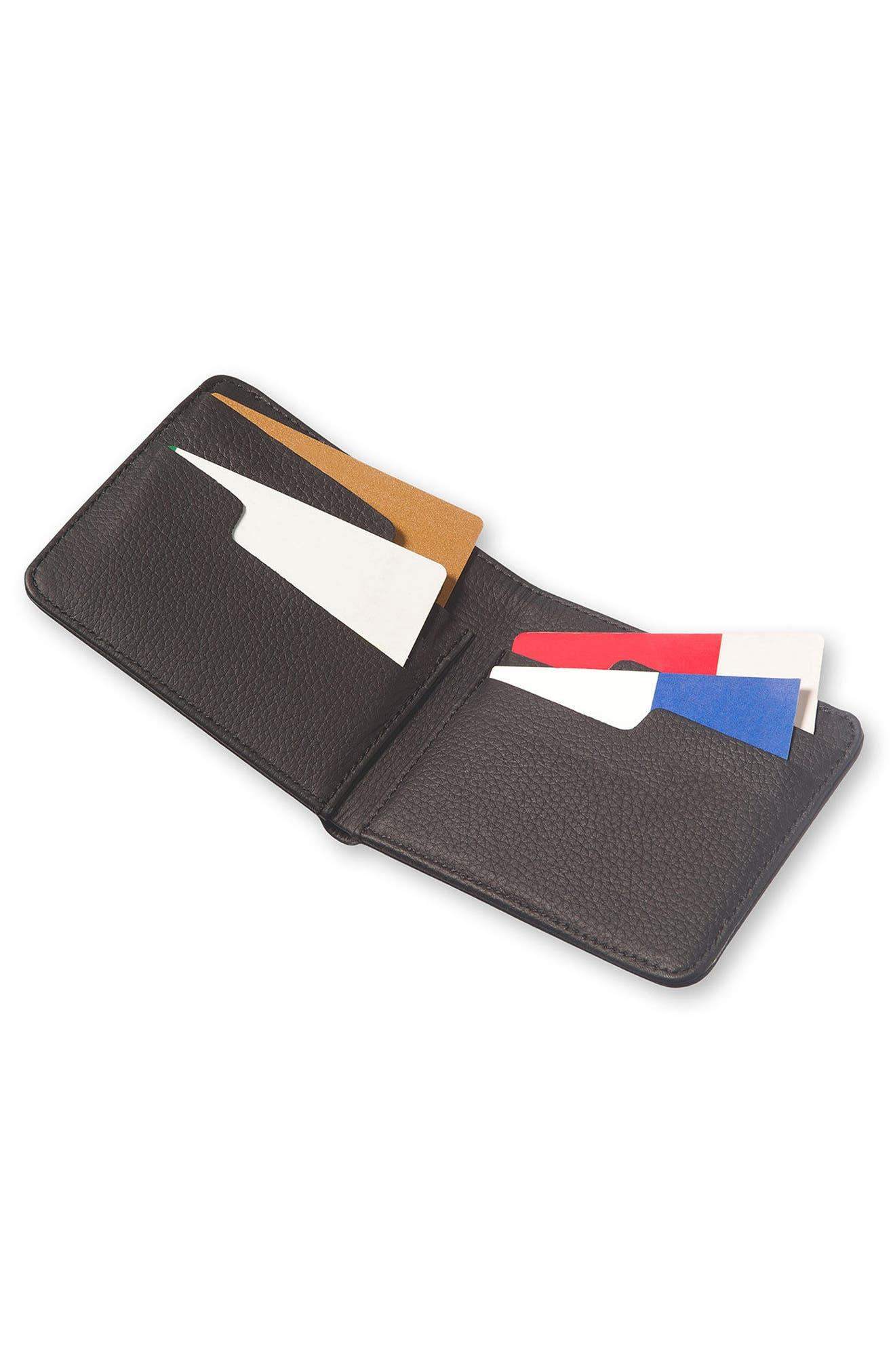 Lineage Leather Wallet,                             Alternate thumbnail 4, color,                             BLACK