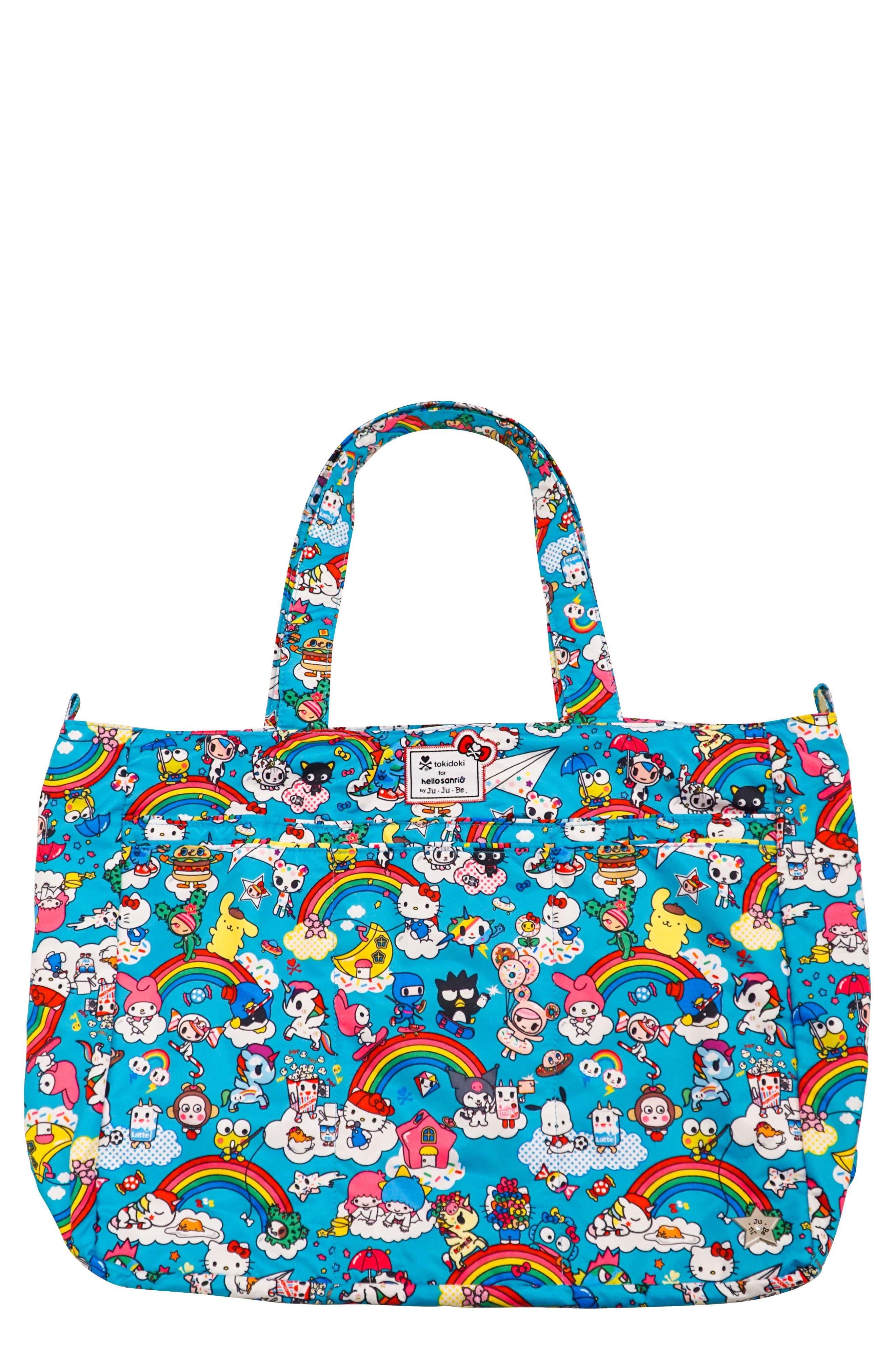 x tokidoki for Hello Sanrio Rainbow Dreams Be Super Diaper Bag,                         Main,                         color, 433