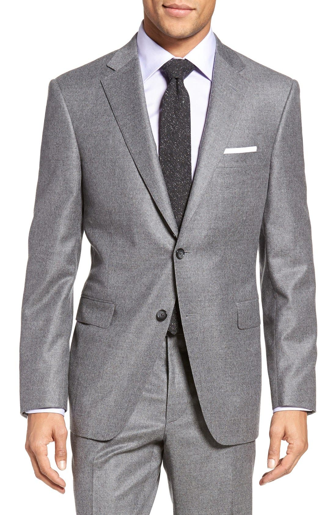 Beckett Classic Fit Solid Wool & Cashmere Suit,                             Alternate thumbnail 5, color,                             050