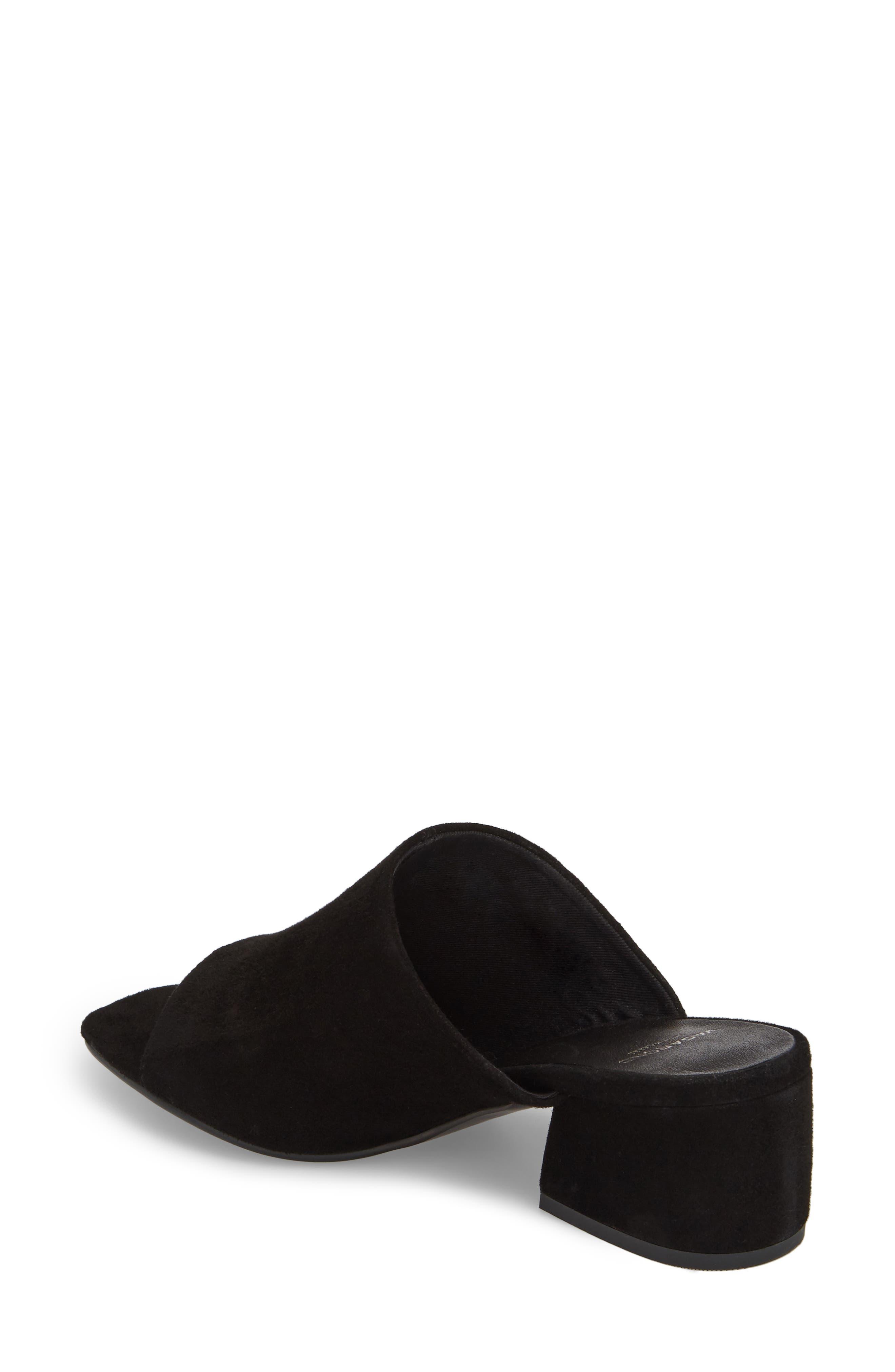 Saide Slide Sandal,                             Alternate thumbnail 2, color,                             BLACK SUEDE