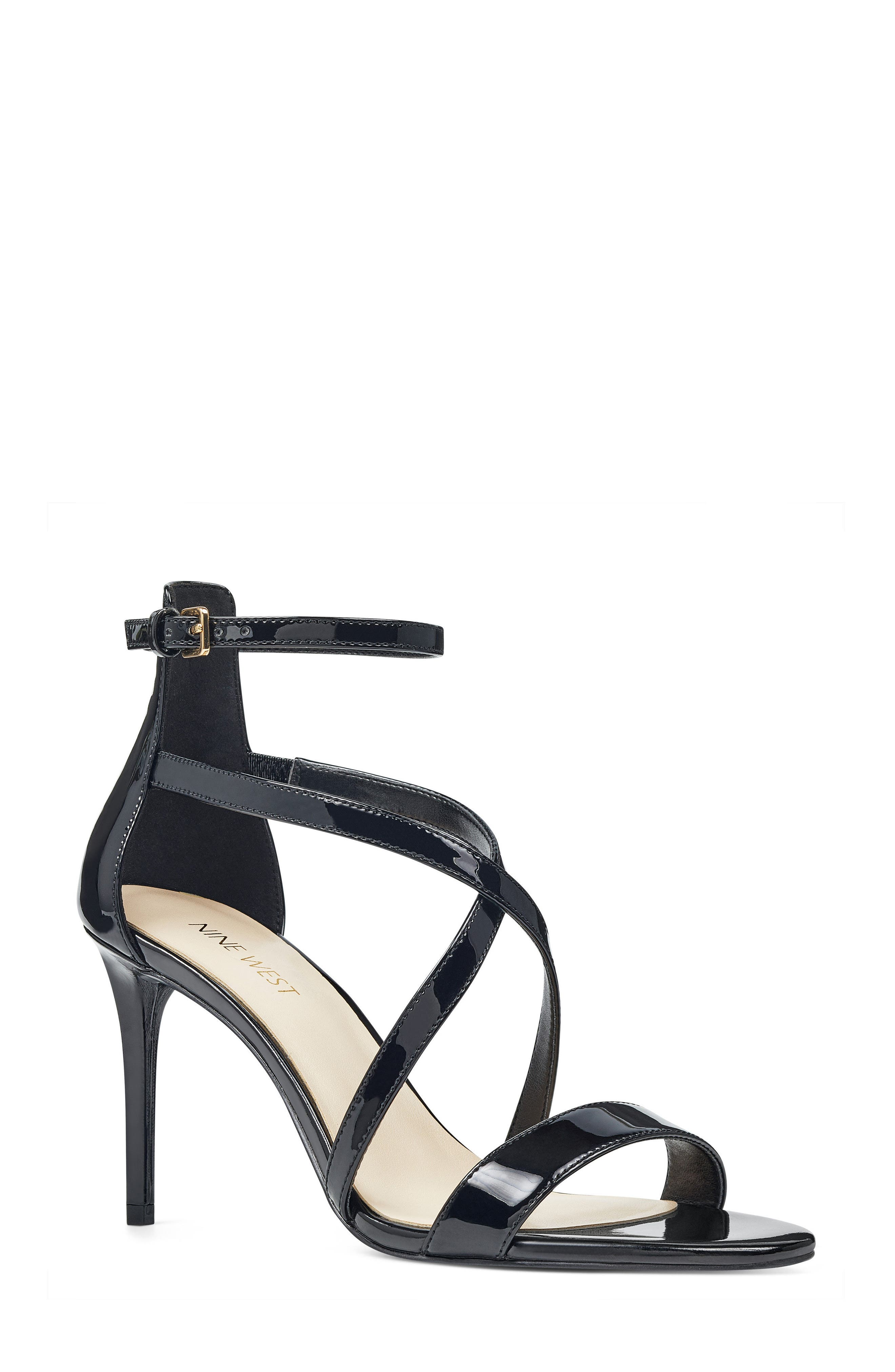 NINE WEST,                             Retail Therapy Strappy Sandal,                             Main thumbnail 1, color,                             001