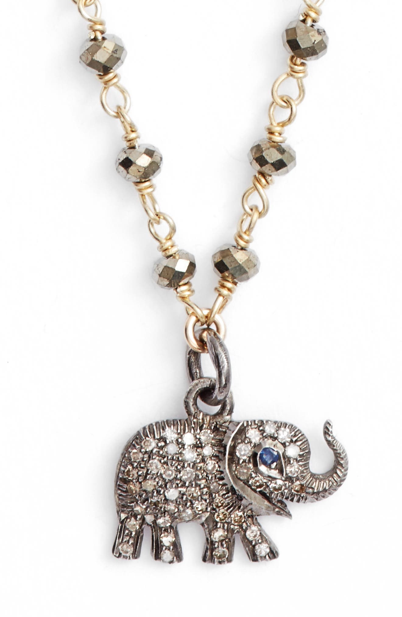 Pheoebe Pyrite Necklace,                         Main,                         color, PYRITE