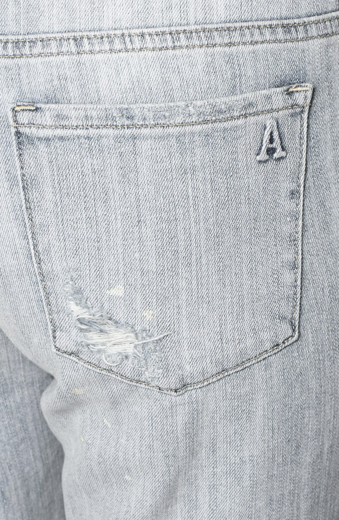 ARTICLES OF SOCIETY,                             'Cindy' Distressed Girlfriend Jeans,                             Alternate thumbnail 3, color,                             400