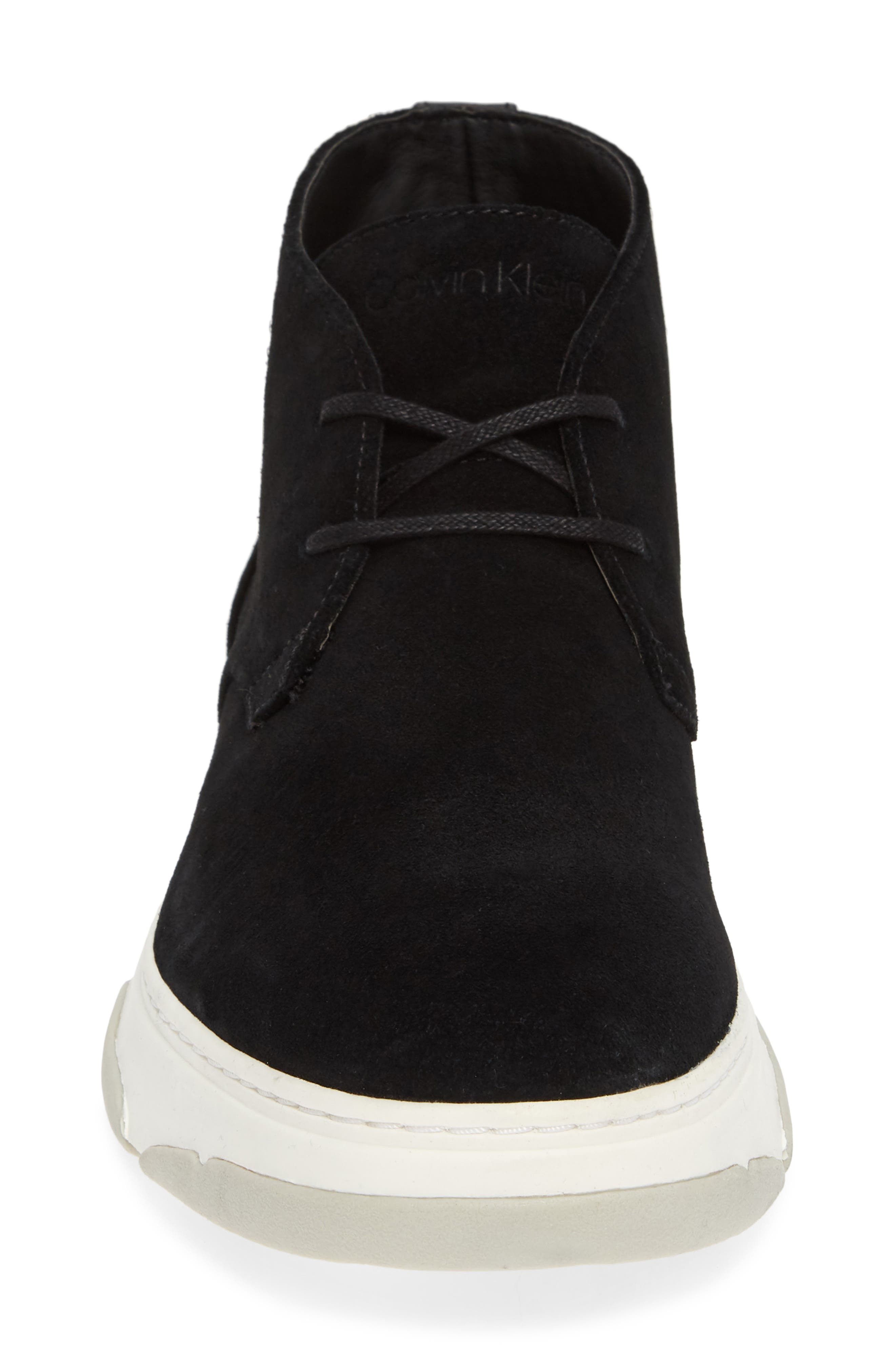 Perry Chukka Boot,                             Alternate thumbnail 4, color,                             BLACK CALF SUEDE