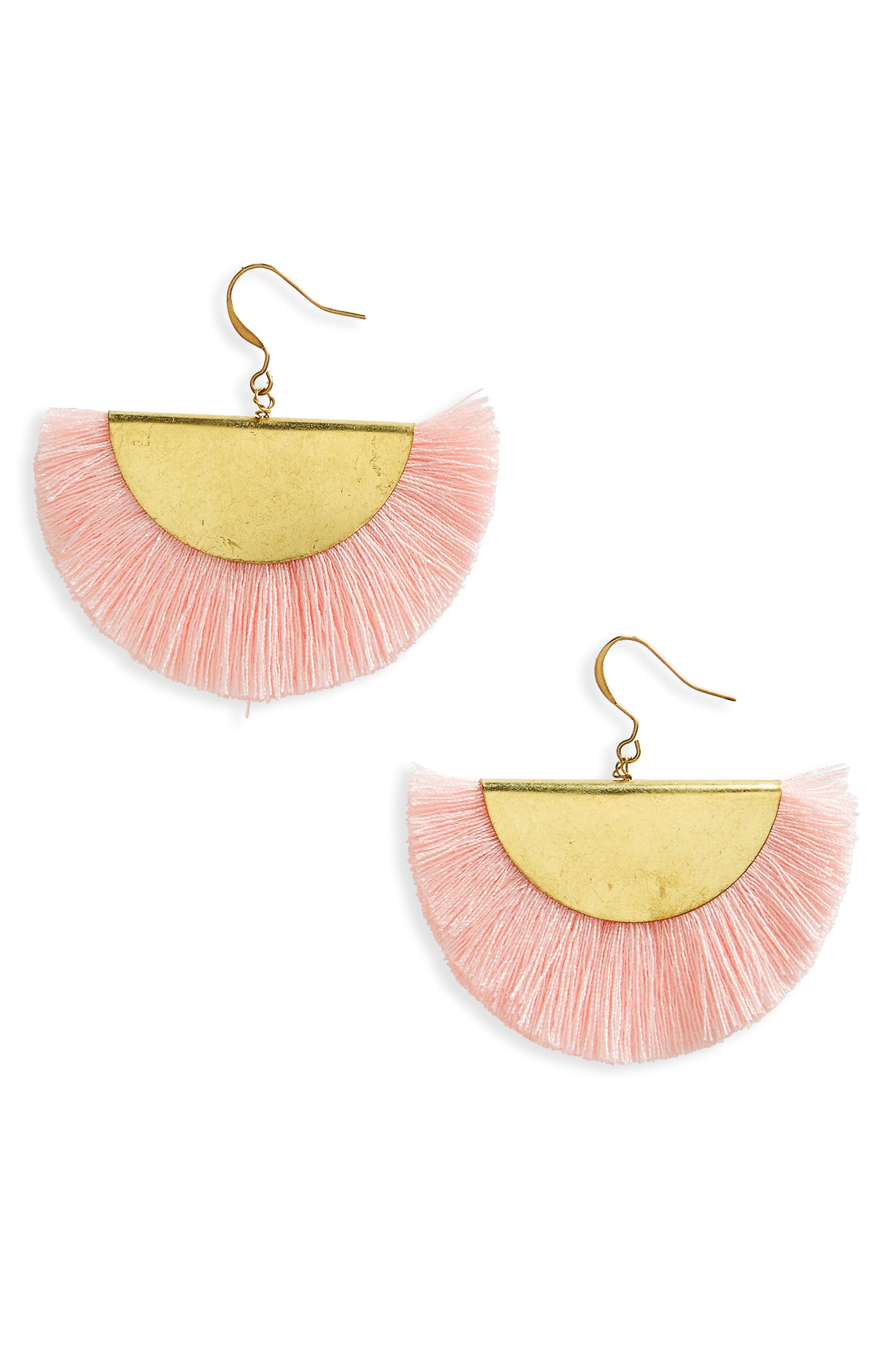 Fan Earrings,                             Main thumbnail 1, color,                             950