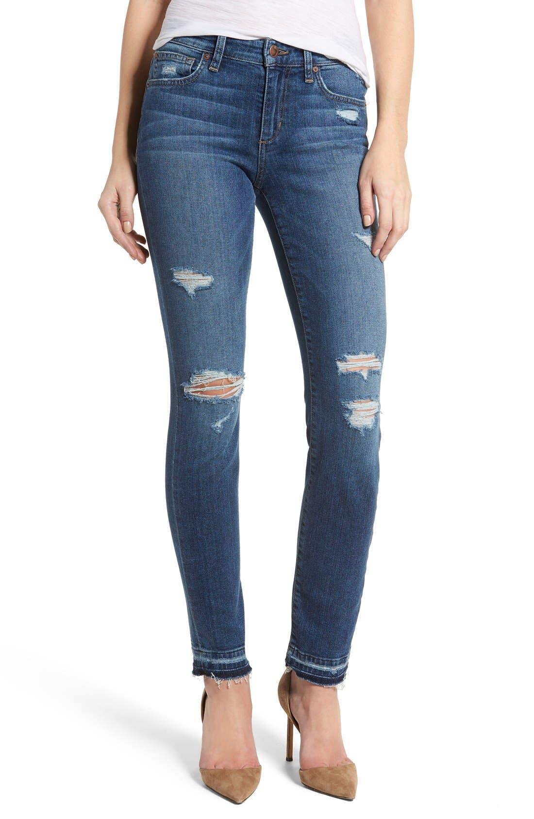 Cigarette Skinny Jeans, Main, color, 410