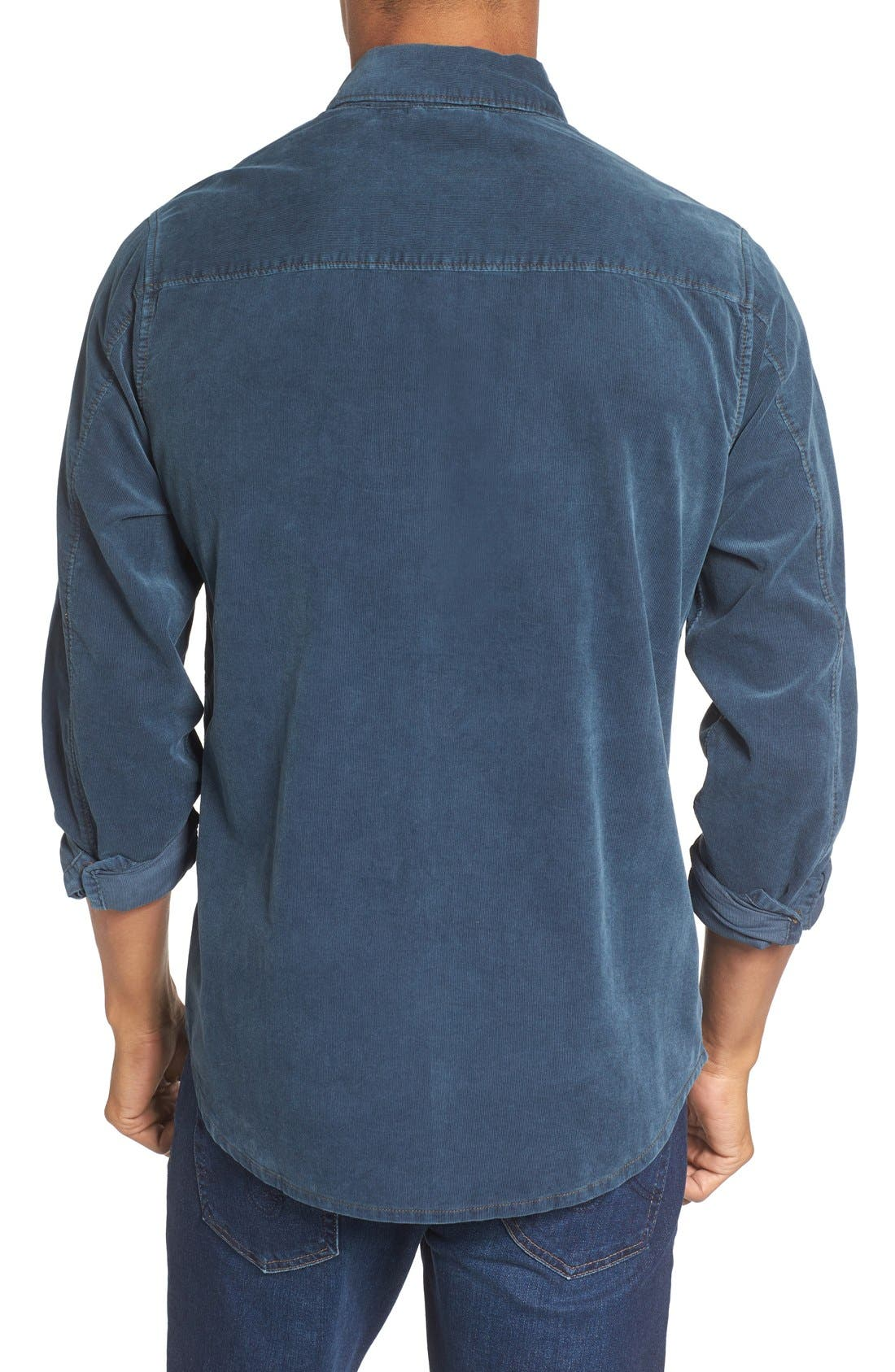 'Jaymes' Pigment Dyed Corduroy Shirt,                             Alternate thumbnail 8, color,