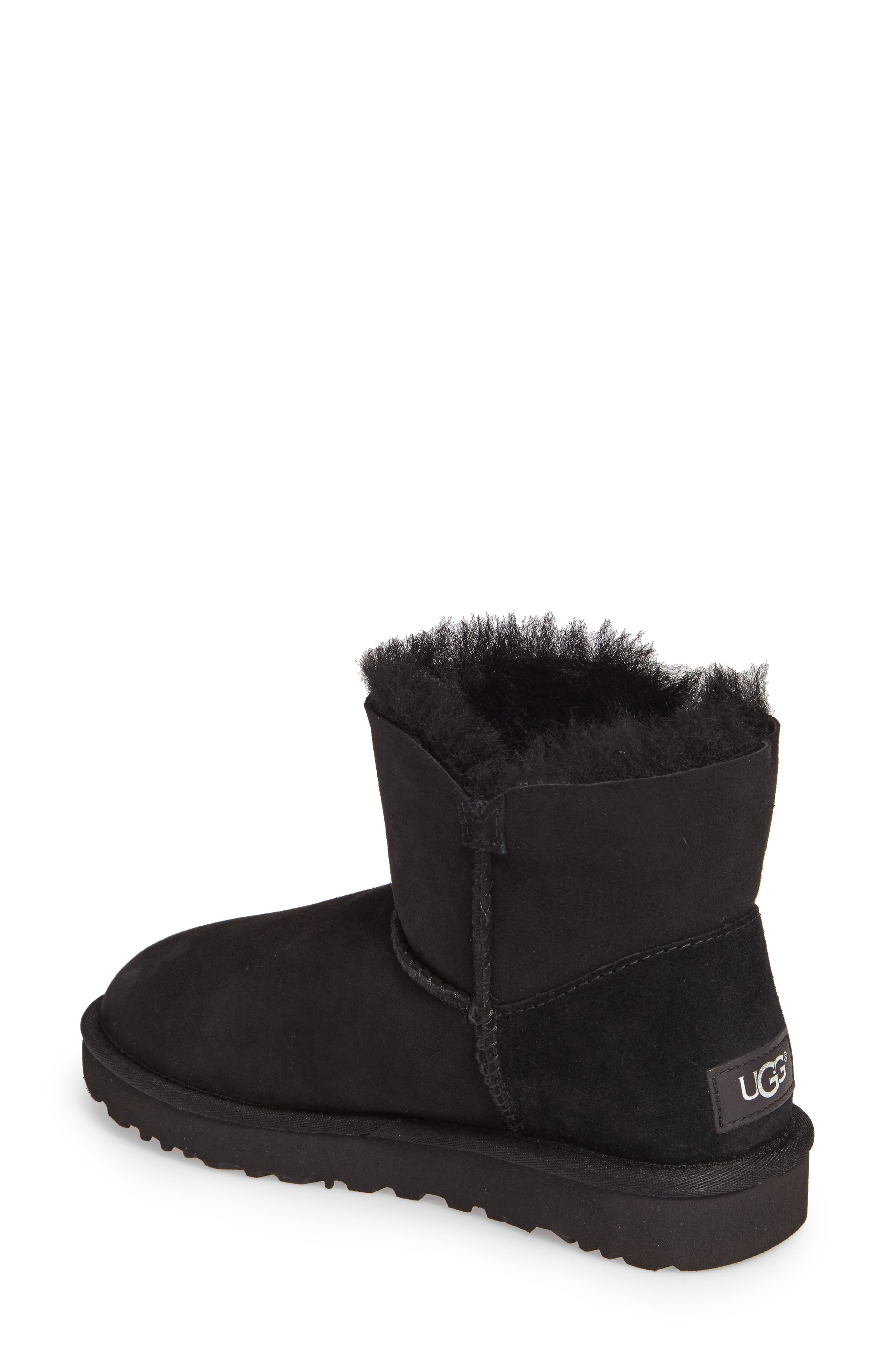 Bailey Petal Genuine Shearling Lined Mini Boot,                             Alternate thumbnail 4, color,