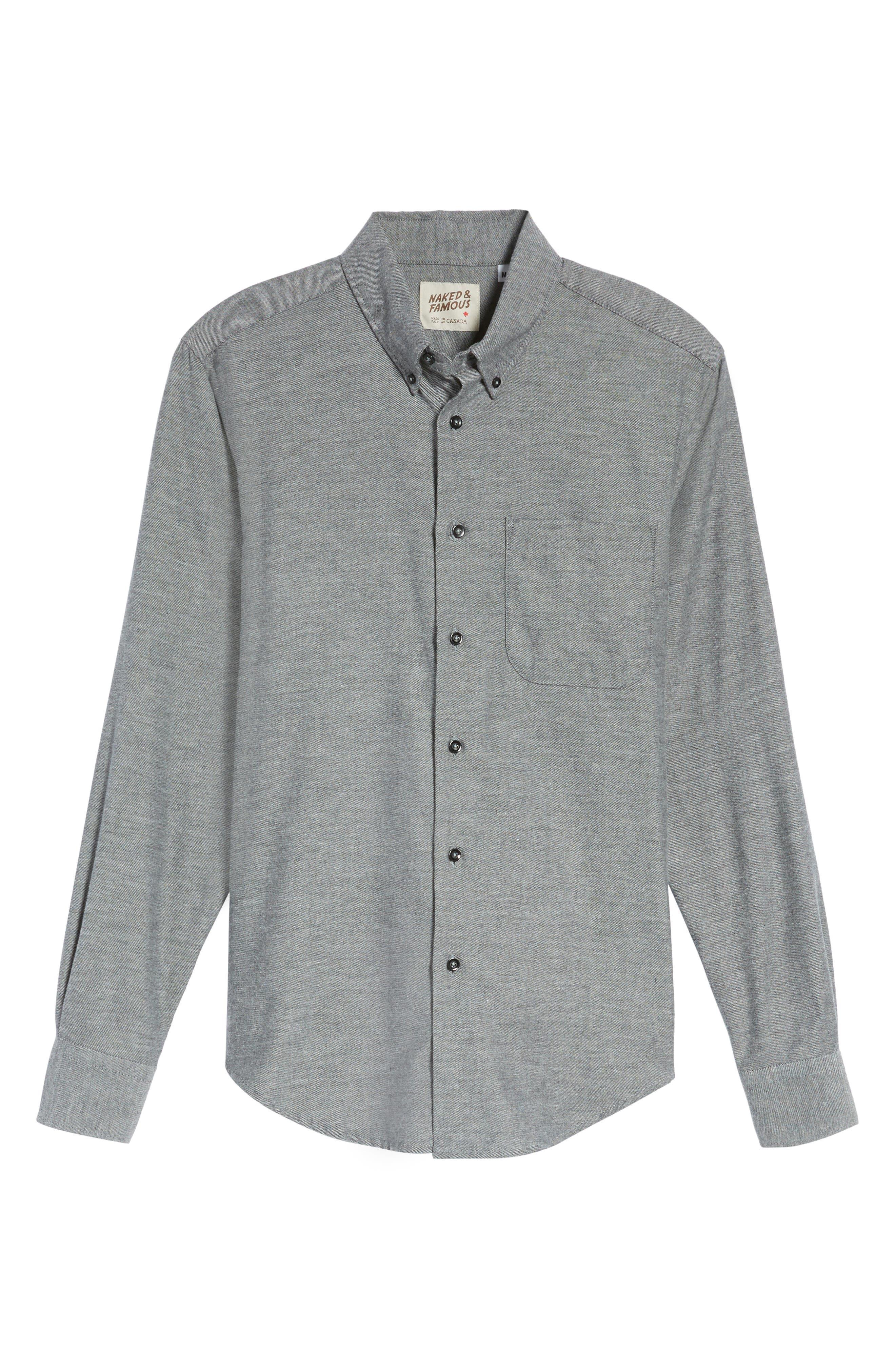 Twill Woven Shirt,                             Alternate thumbnail 6, color,                             030