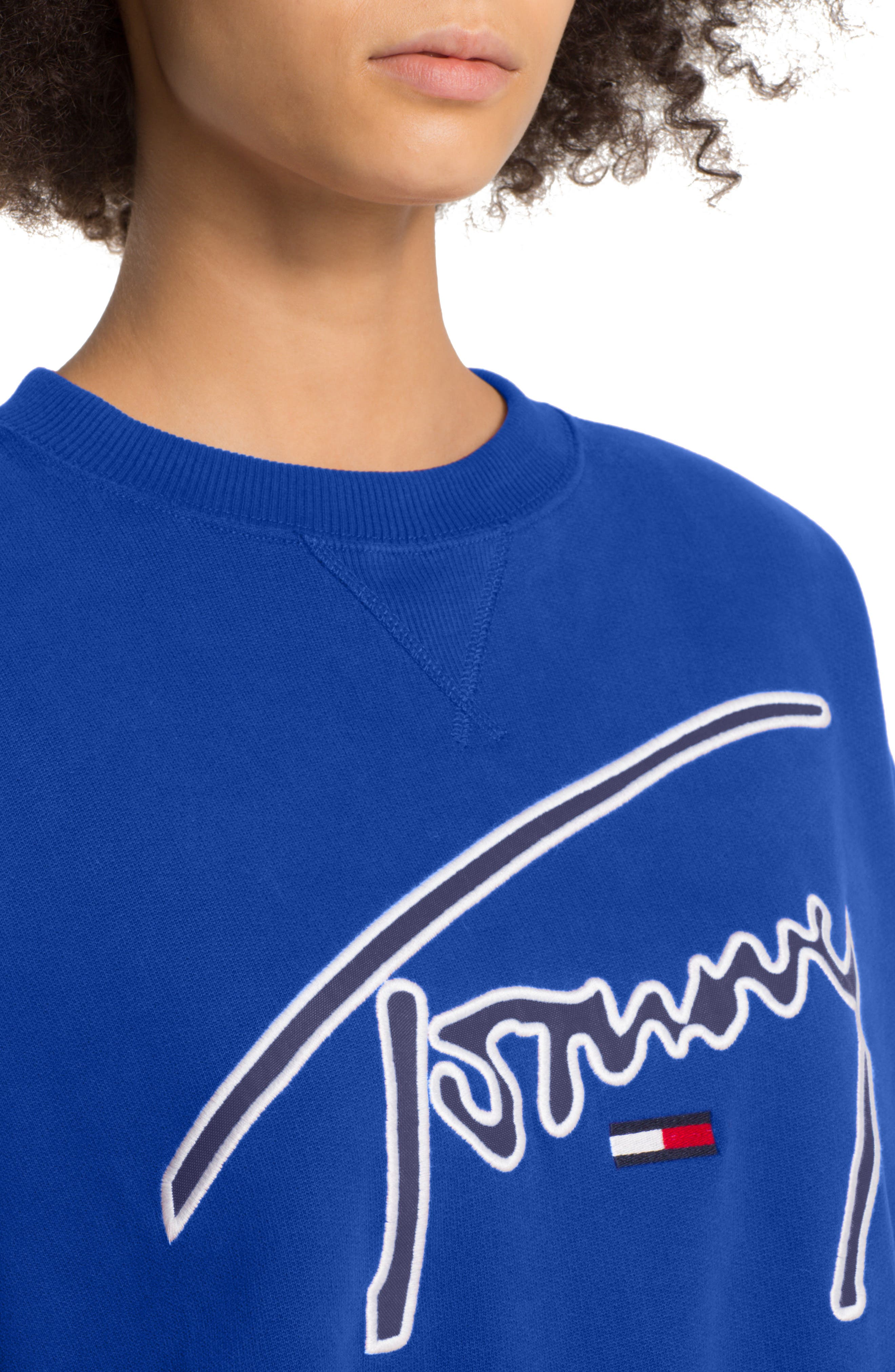 TOMMY JEANS,                             TJW Embroidered Logo Sweatshirt,                             Alternate thumbnail 3, color,                             419