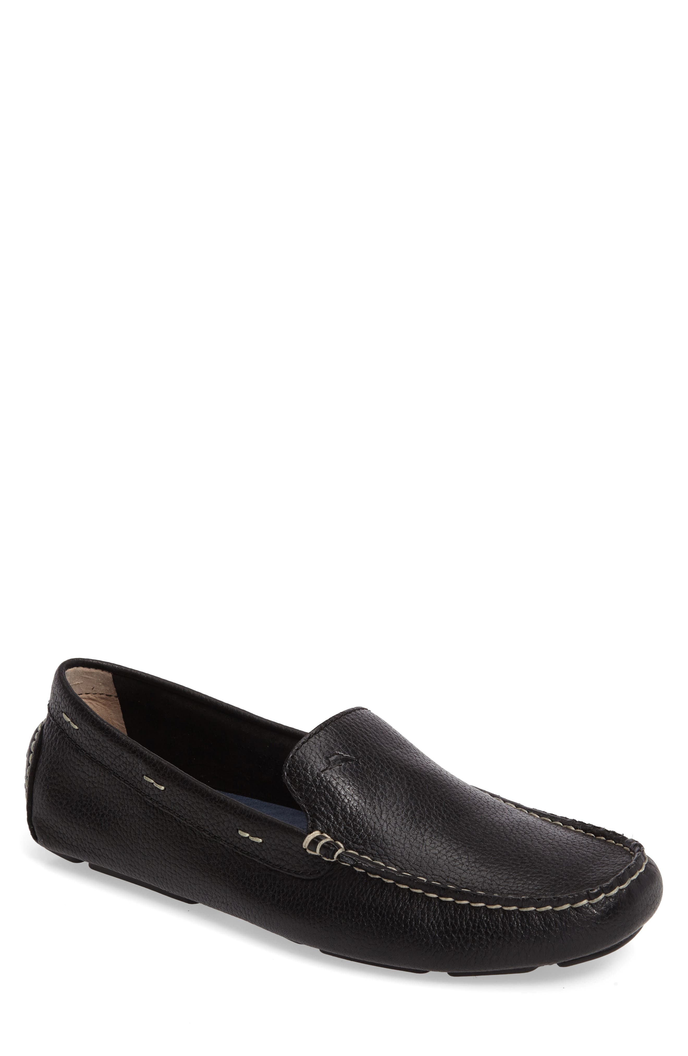 Pagota Driving Loafer,                         Main,                         color, BLACK LEATHER