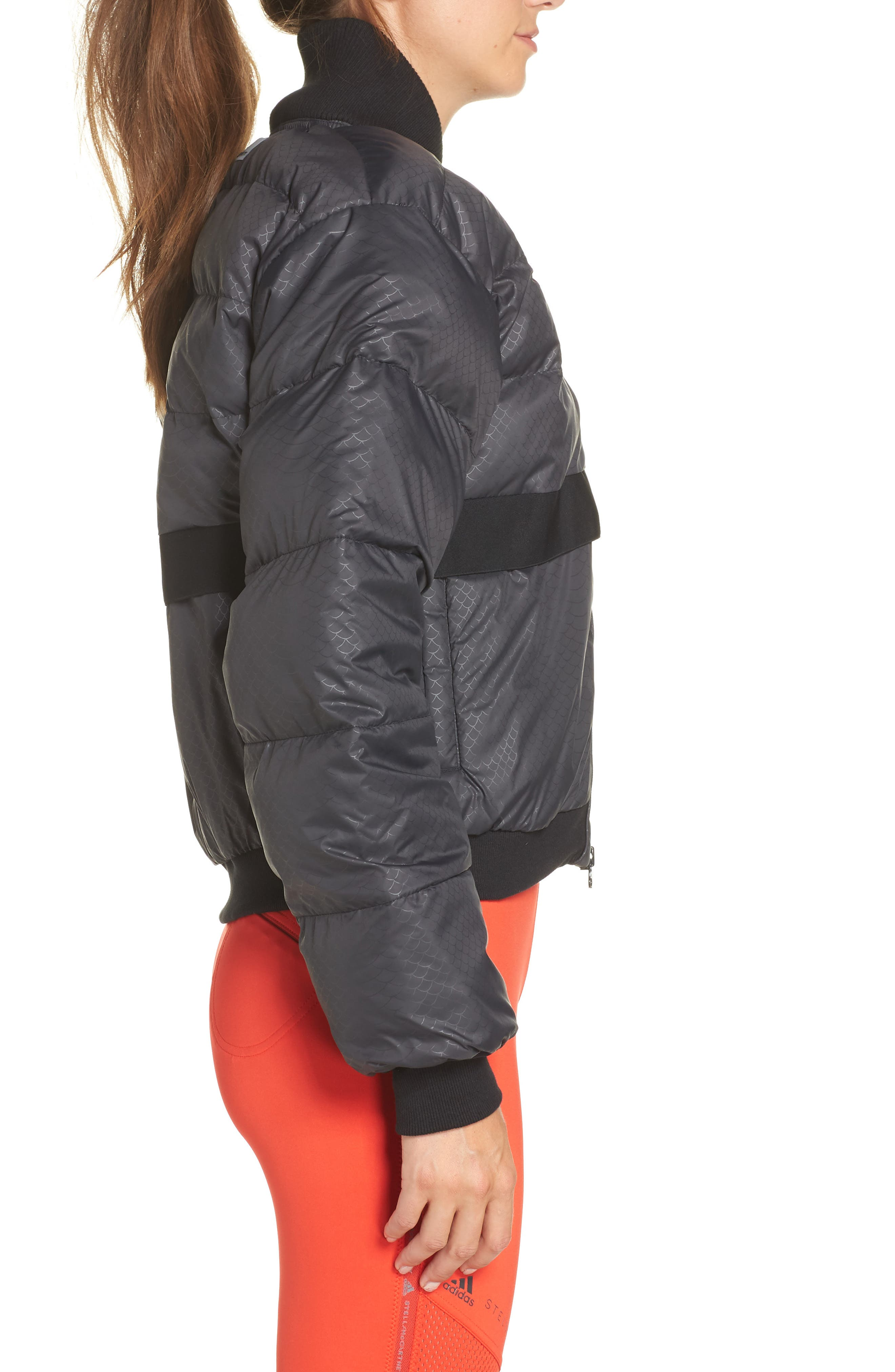 Crop Puffer Jacket,                             Alternate thumbnail 3, color,                             001