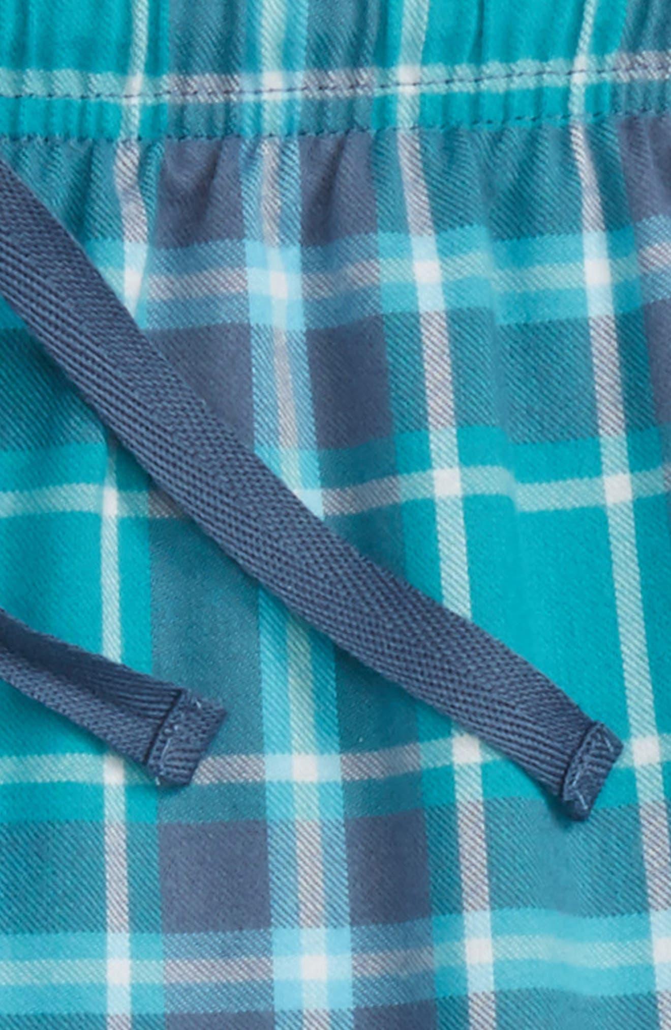 Flannel Jogger Pants,                             Alternate thumbnail 2, color,                             NAVY PEACOAT PLAID