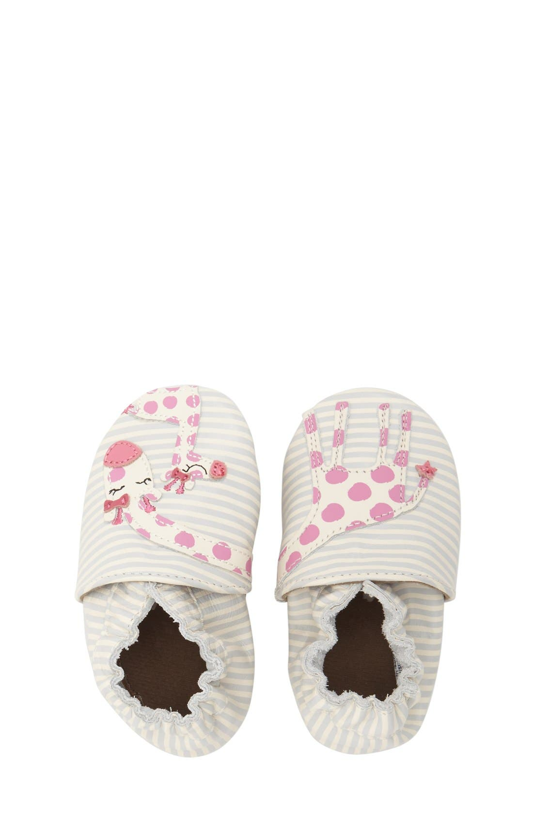 'Reaching for the Stars' Giraffe Crib Shoe,                             Alternate thumbnail 3, color,                             BEIGE
